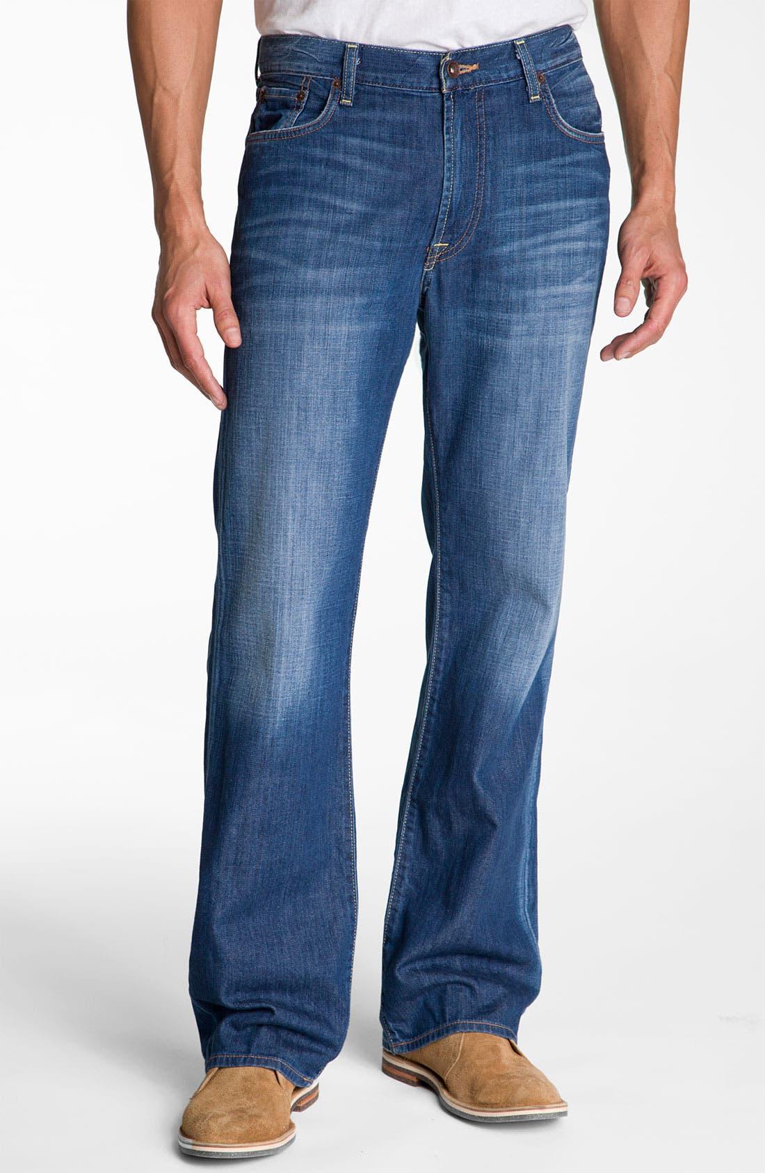 Alternate Image 1 Selected - Lucky Brand Relaxed Straight Leg Jeans (Ol' Neptune)