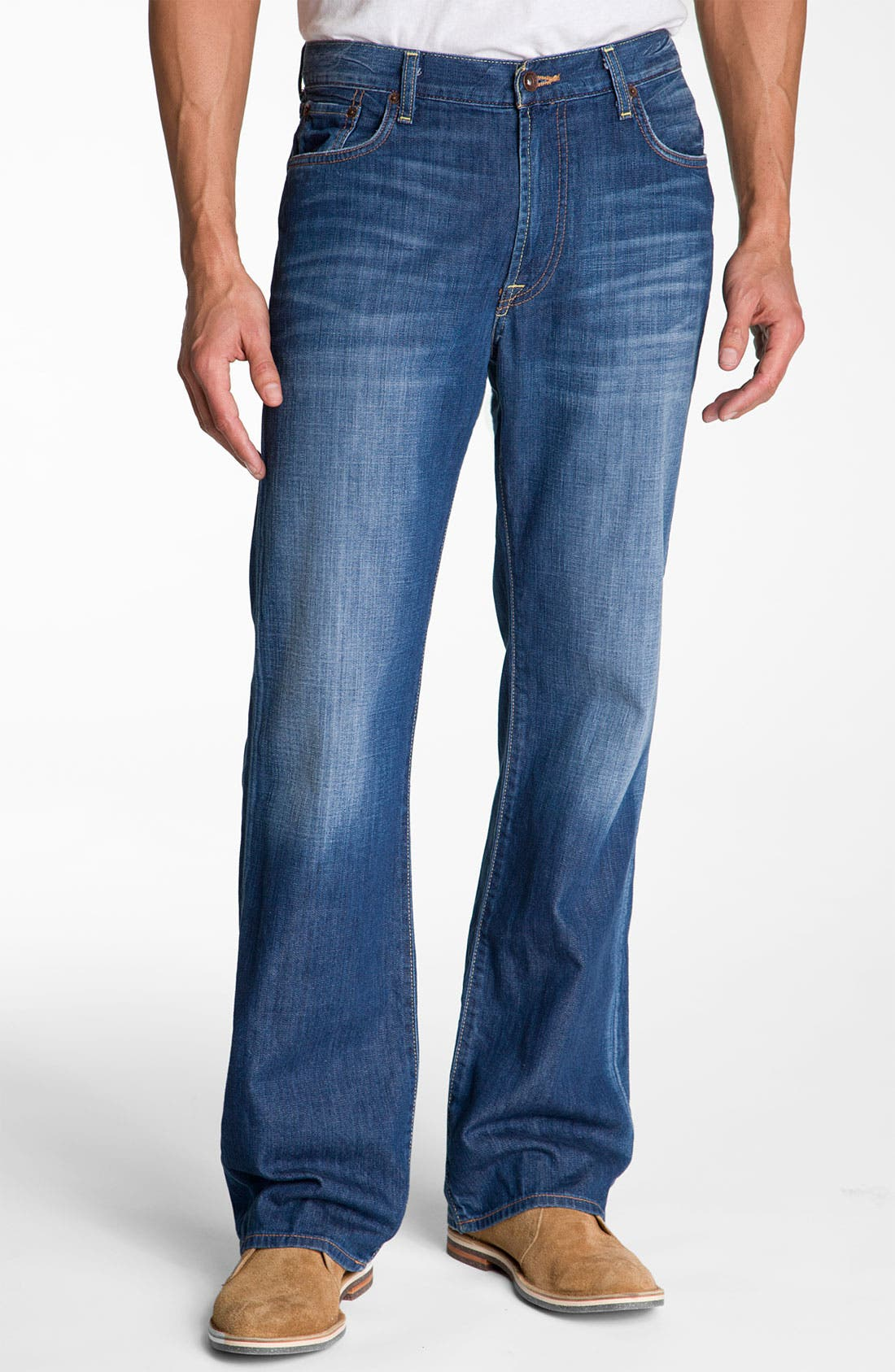 Main Image - Lucky Brand Relaxed Straight Leg Jeans (Ol' Neptune)