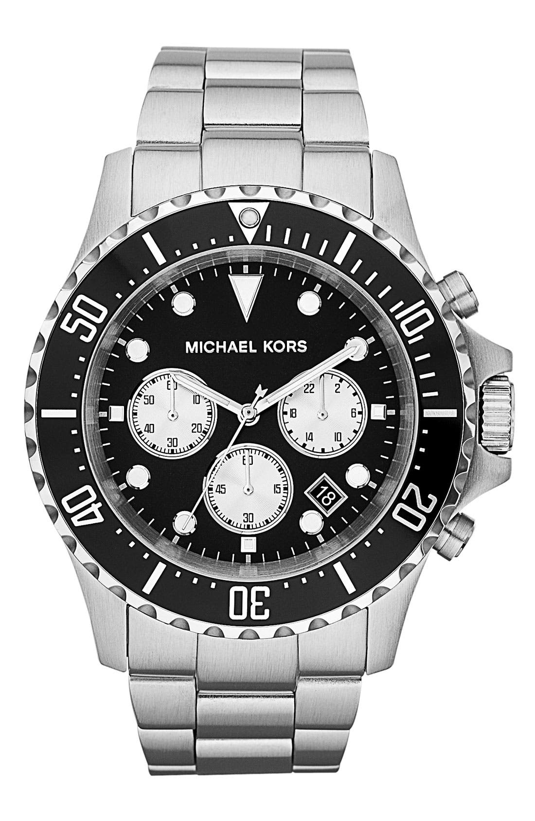 Alternate Image 1 Selected - Michael Kors 'Everest' Chronograph Bracelet Watch, 45mm
