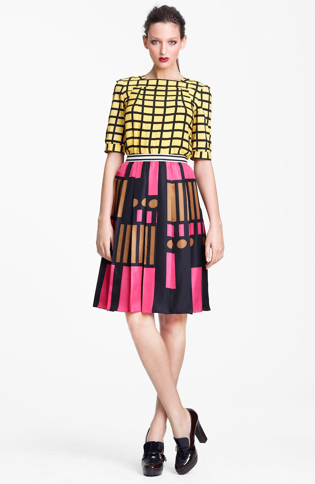 Alternate Image 4  - Marni Edition Grid Print Crepe Top