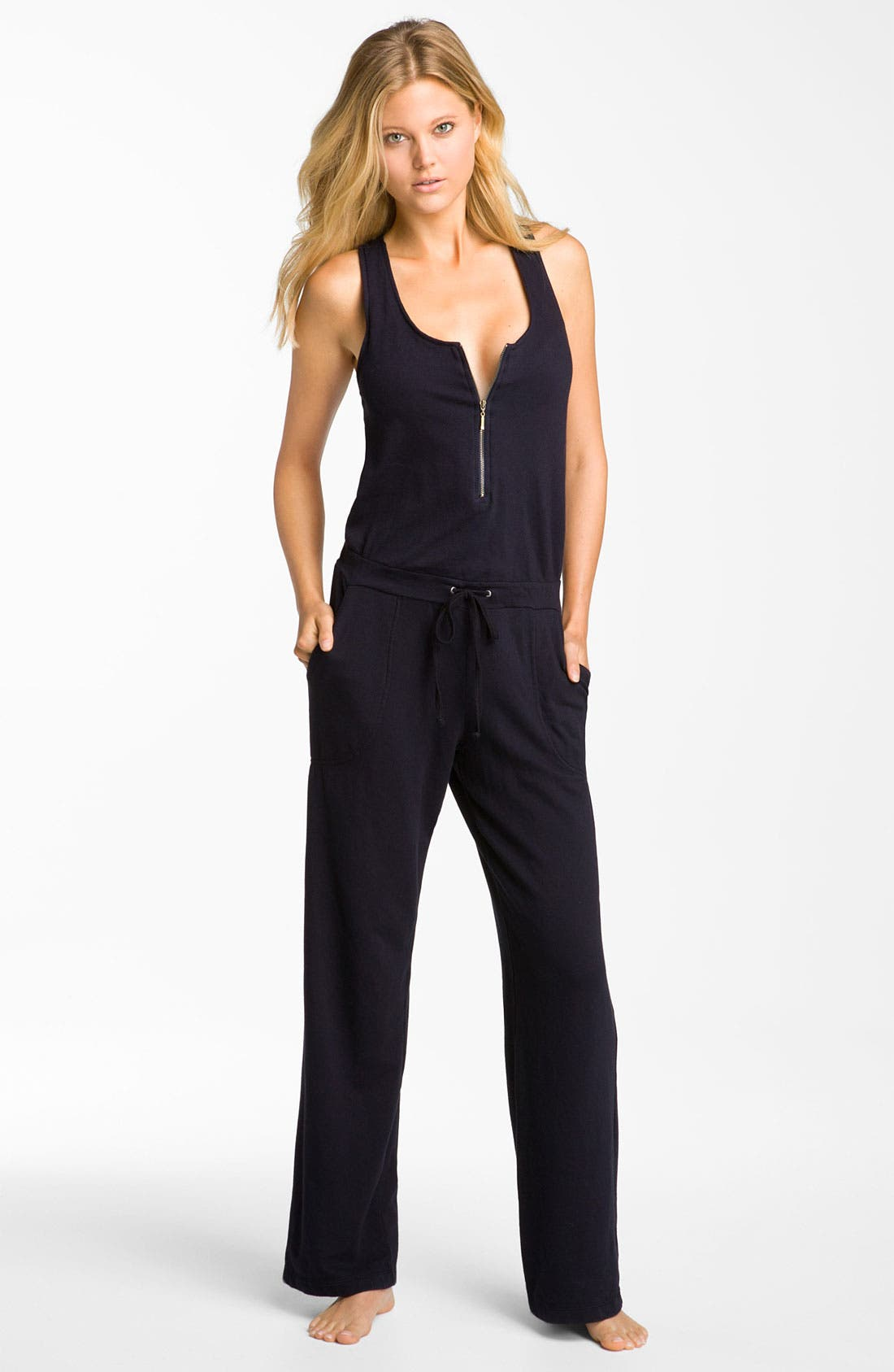 Sleeveless Jumpsuit,                         Main,                         color, Ink