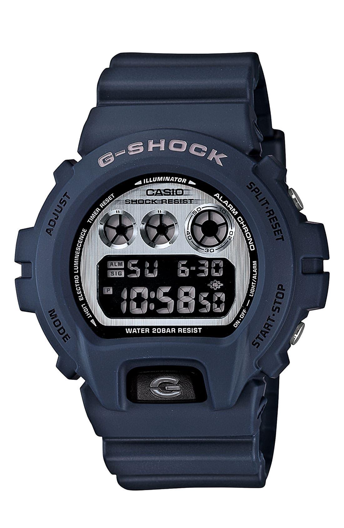 Alternate Image 1 Selected - G-Shock 'Matte' Digital Watch, 53mm x 50mm