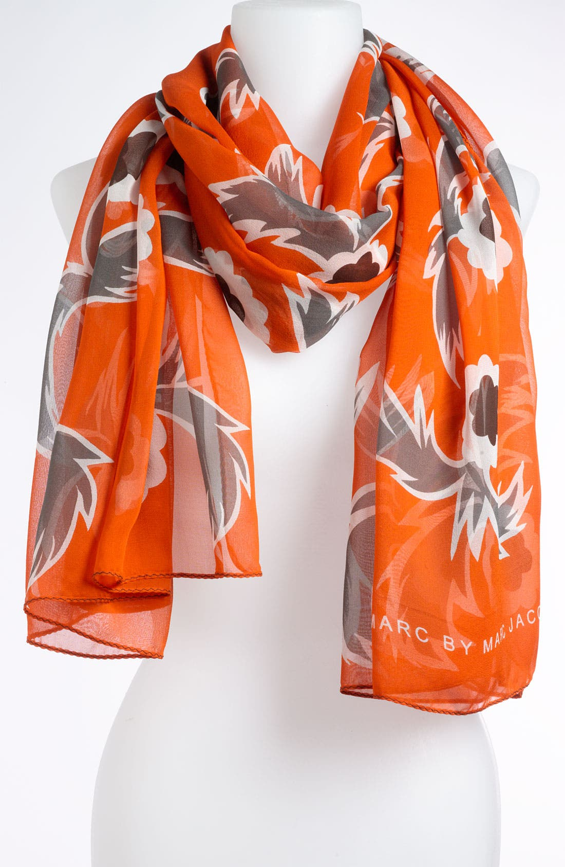 Main Image - MARC BY MARC JACOBS 'Highlighter Blossom' Silk Scarf