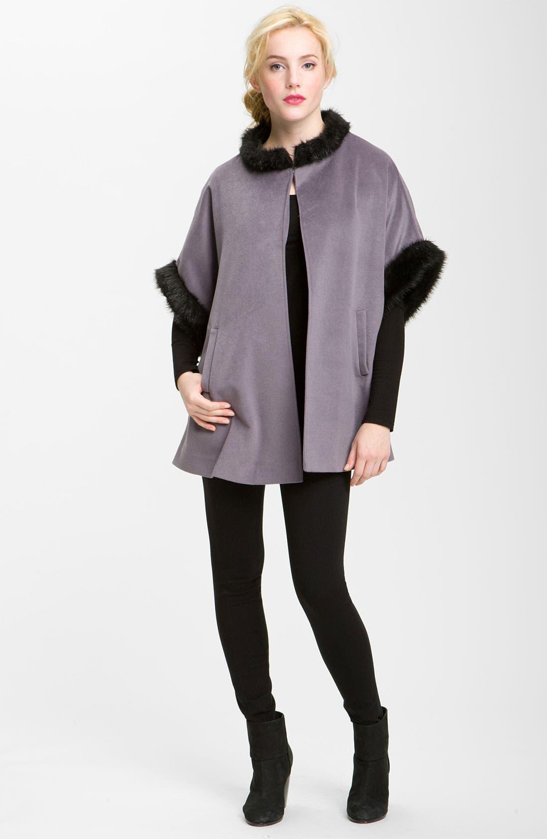 Alternate Image 1 Selected - Halogen® Faux Fur Trim Cape