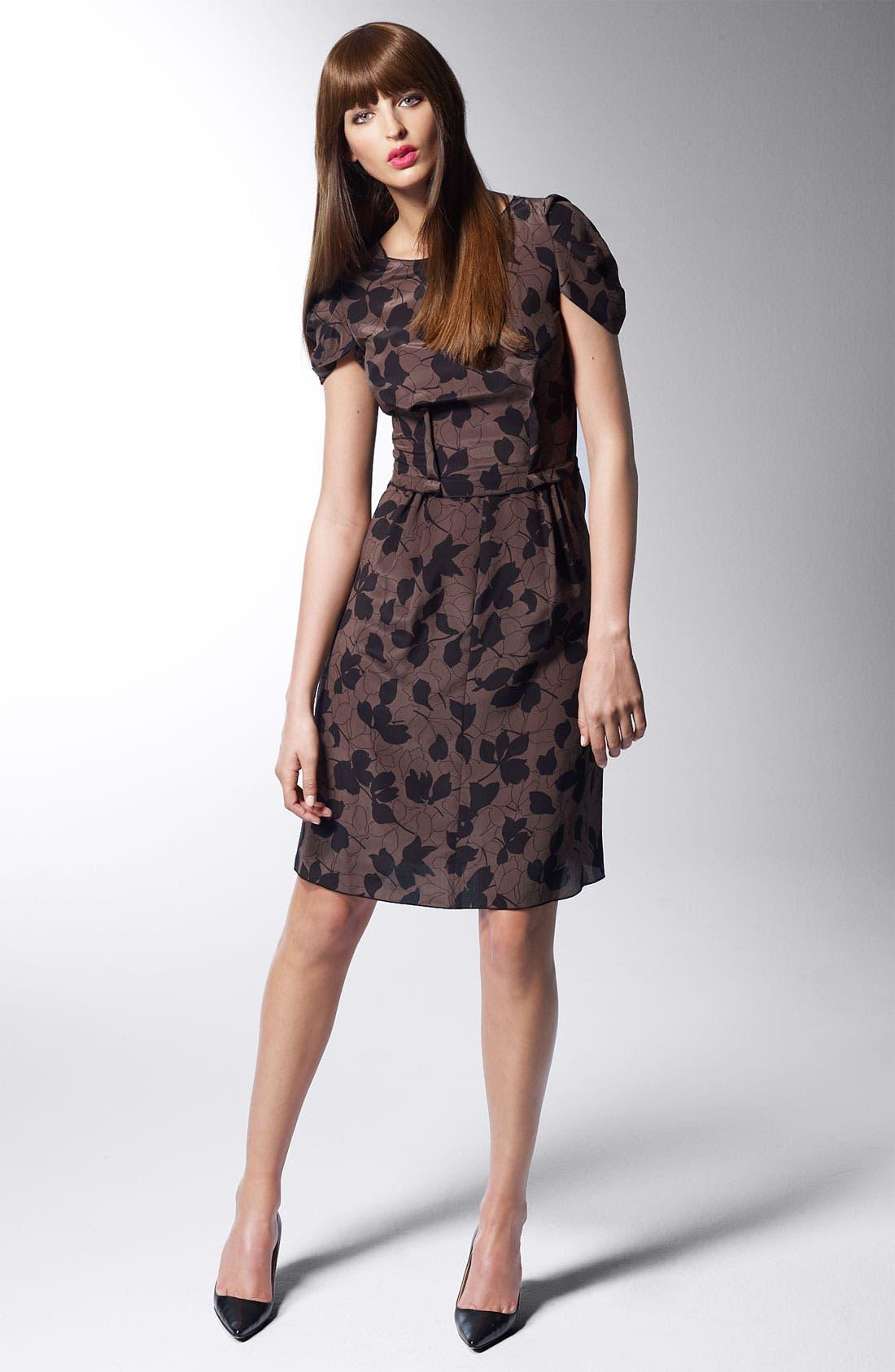 Alternate Image 4  - Nina Ricci 'Camo Fleur' Print Silk Crepe Dress