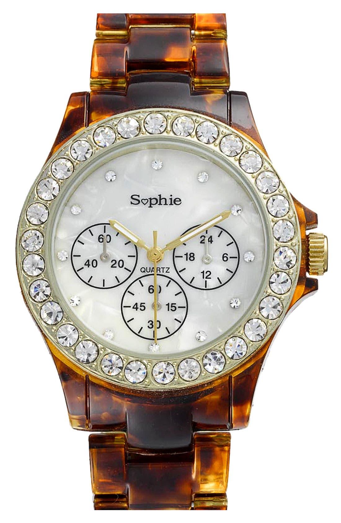 Main Image - Titanium Faux Tortoiseshell Watch