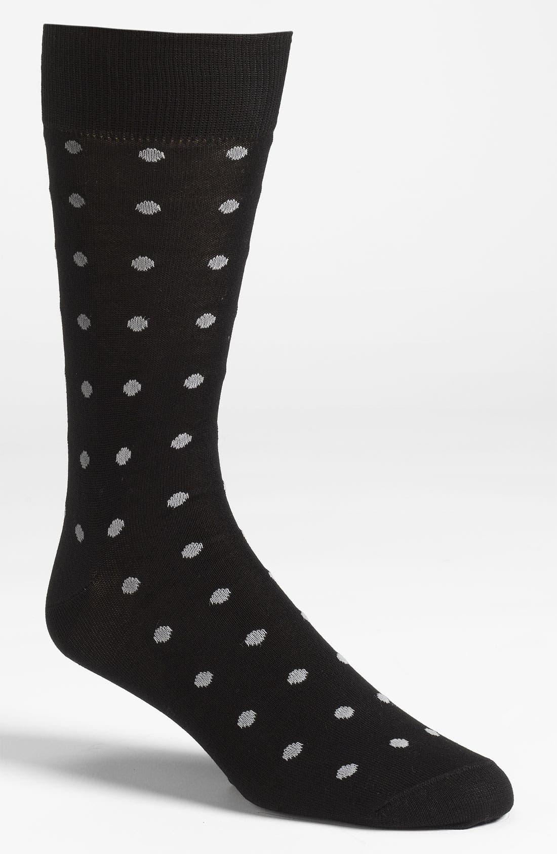 Alternate Image 1 Selected - Lorenzo Uomo Tonal Dots Socks