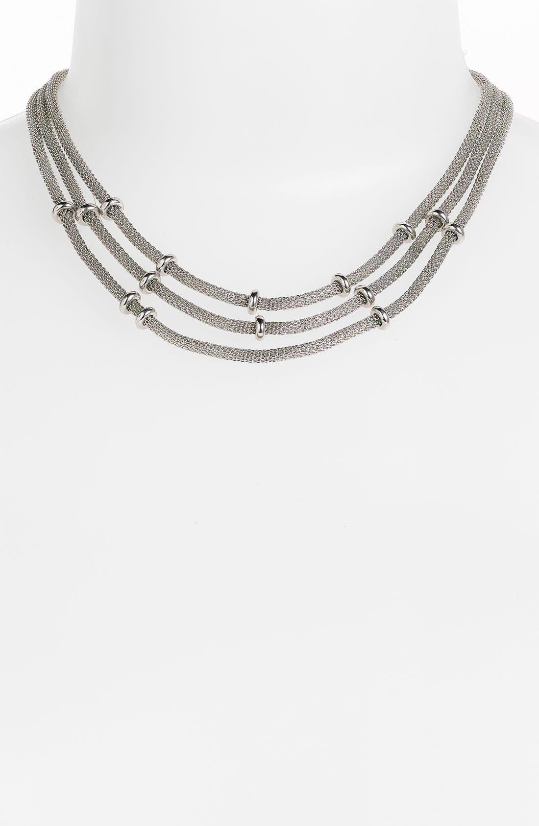 Main Image - Anne Klein Triple Strand Mesh Necklace