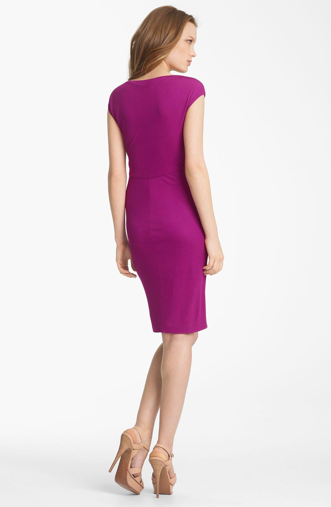 Alternate Image 2  - Roberto Cavalli Cap Sleeve Jersey Dress