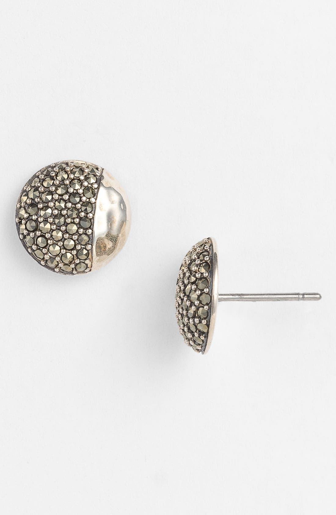 Main Image - Judith Jack 'Gold Sea' Button Stud Earrings