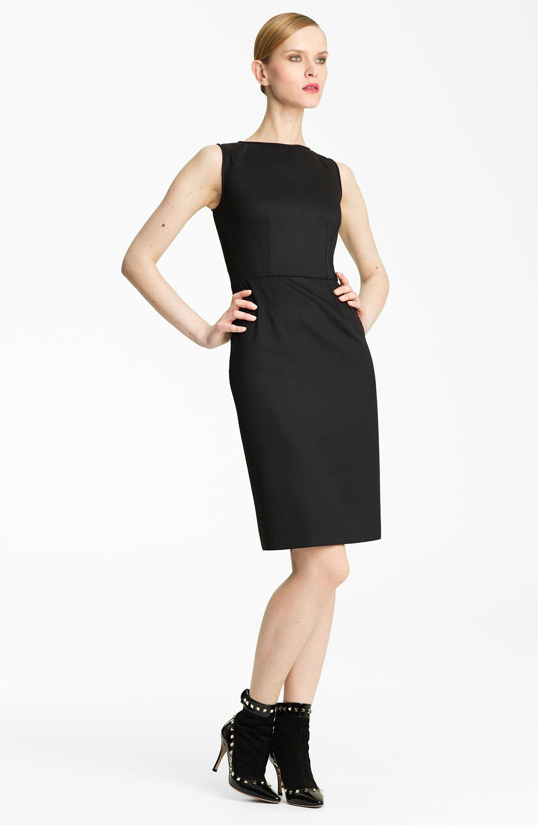 Alternate Image 1 Selected - Valentino Techno Stretch Wool Sheath Dress