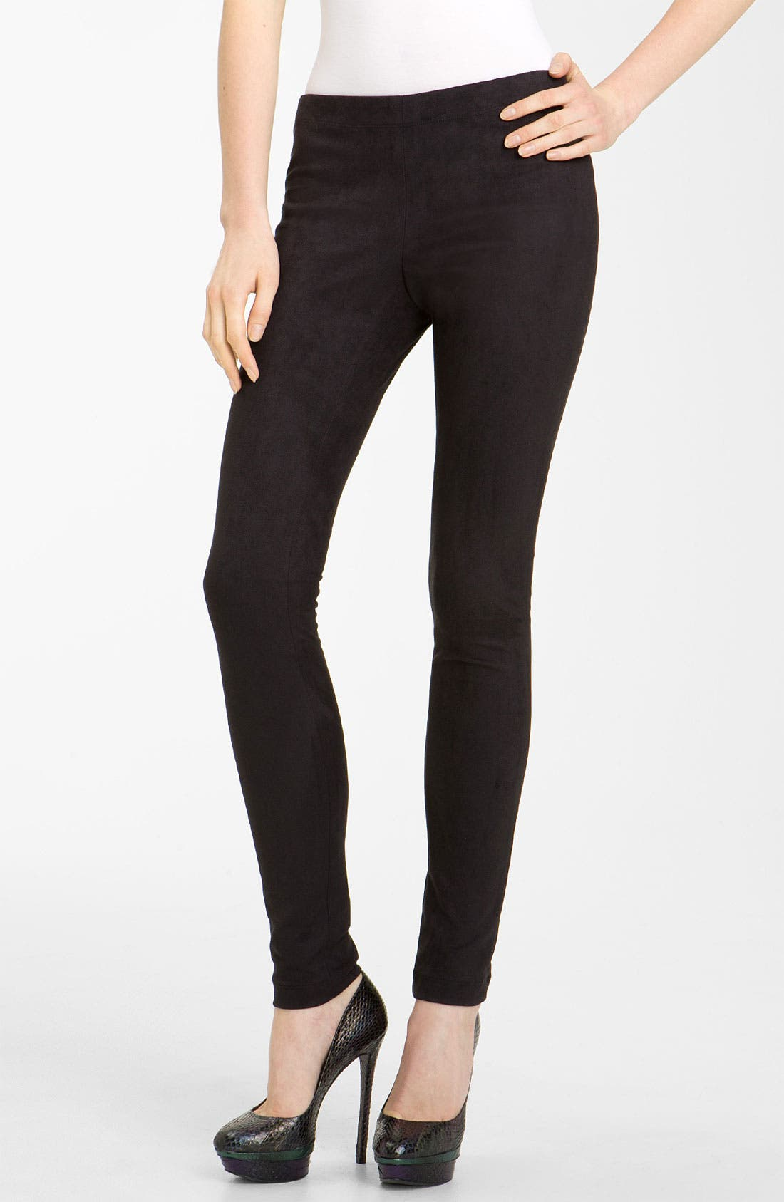 Alternate Image 1 Selected - Alice + Olivia Faux Suede Leggings