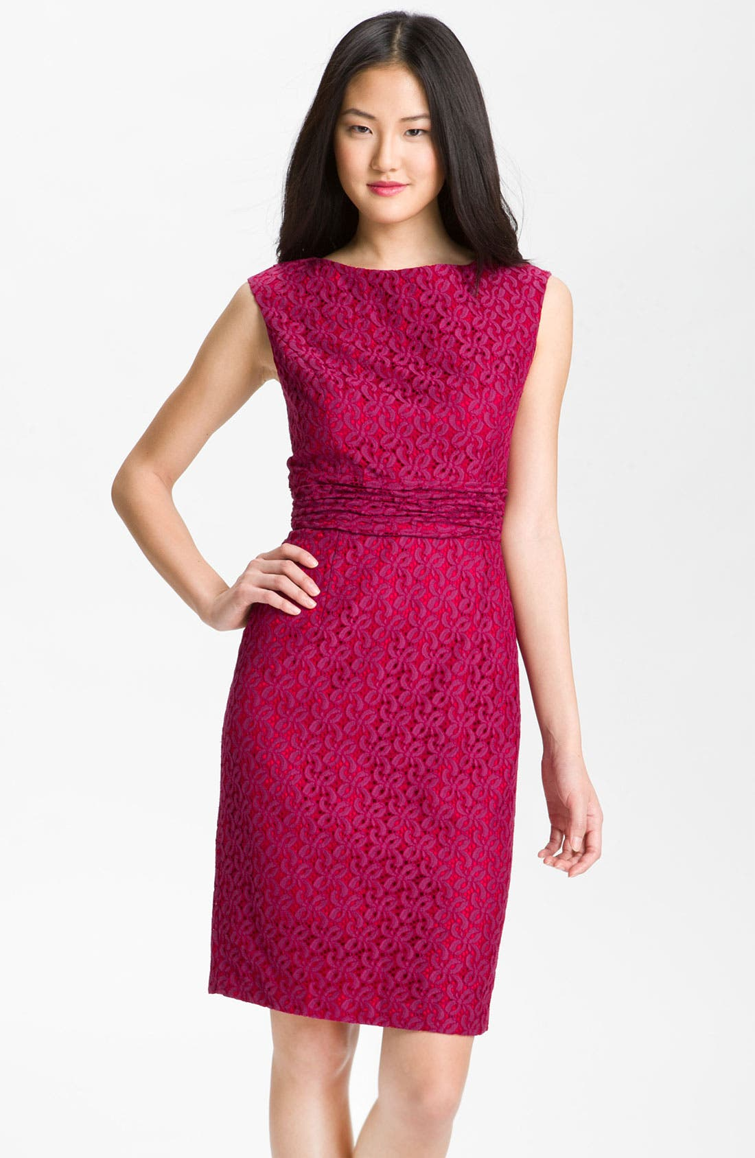 Main Image - Adrianna Papell Empire Waist Lace Sheath Dress