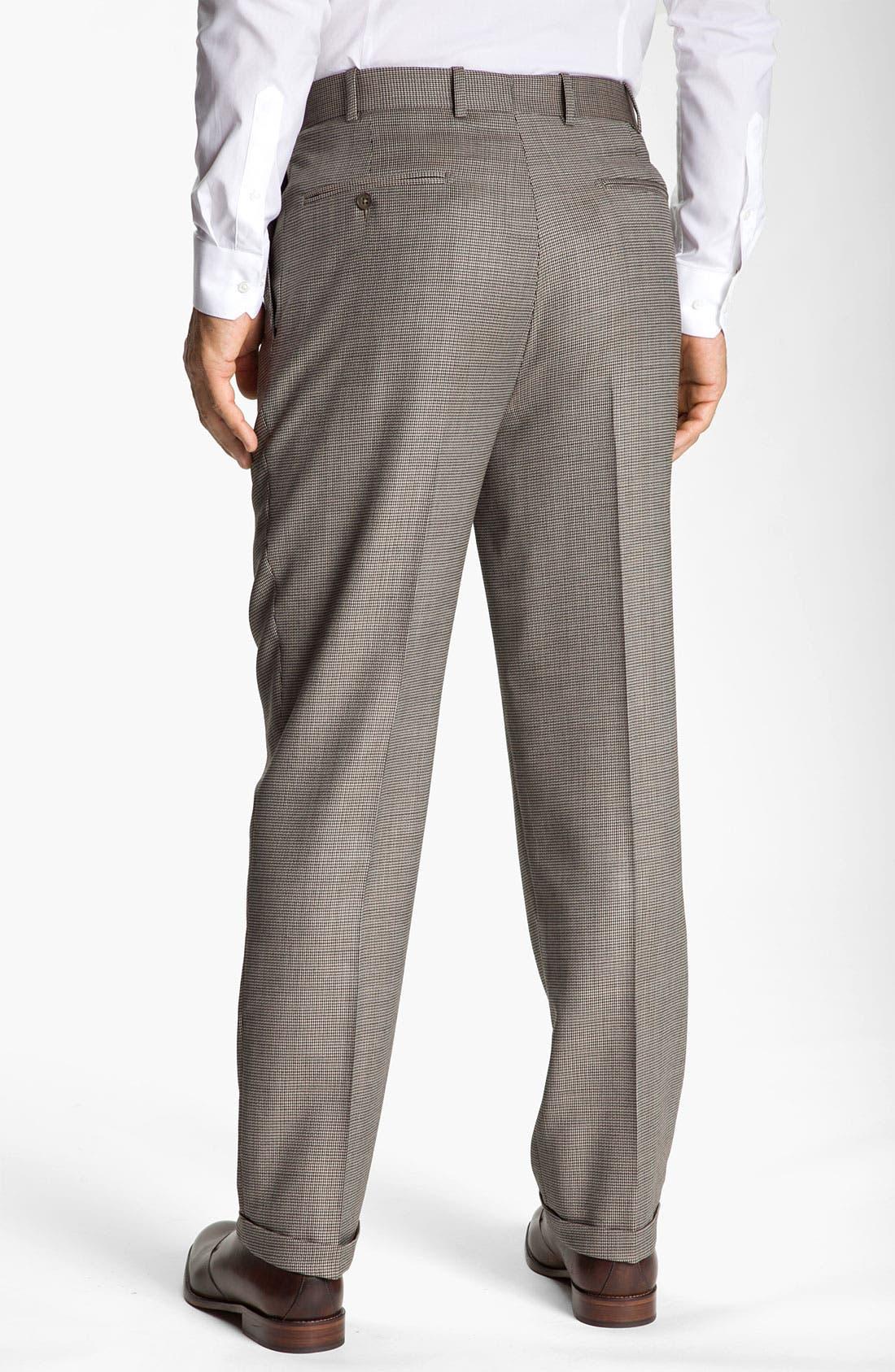 Alternate Image 2  - Di Milano Uomo Single Pleat Trousers