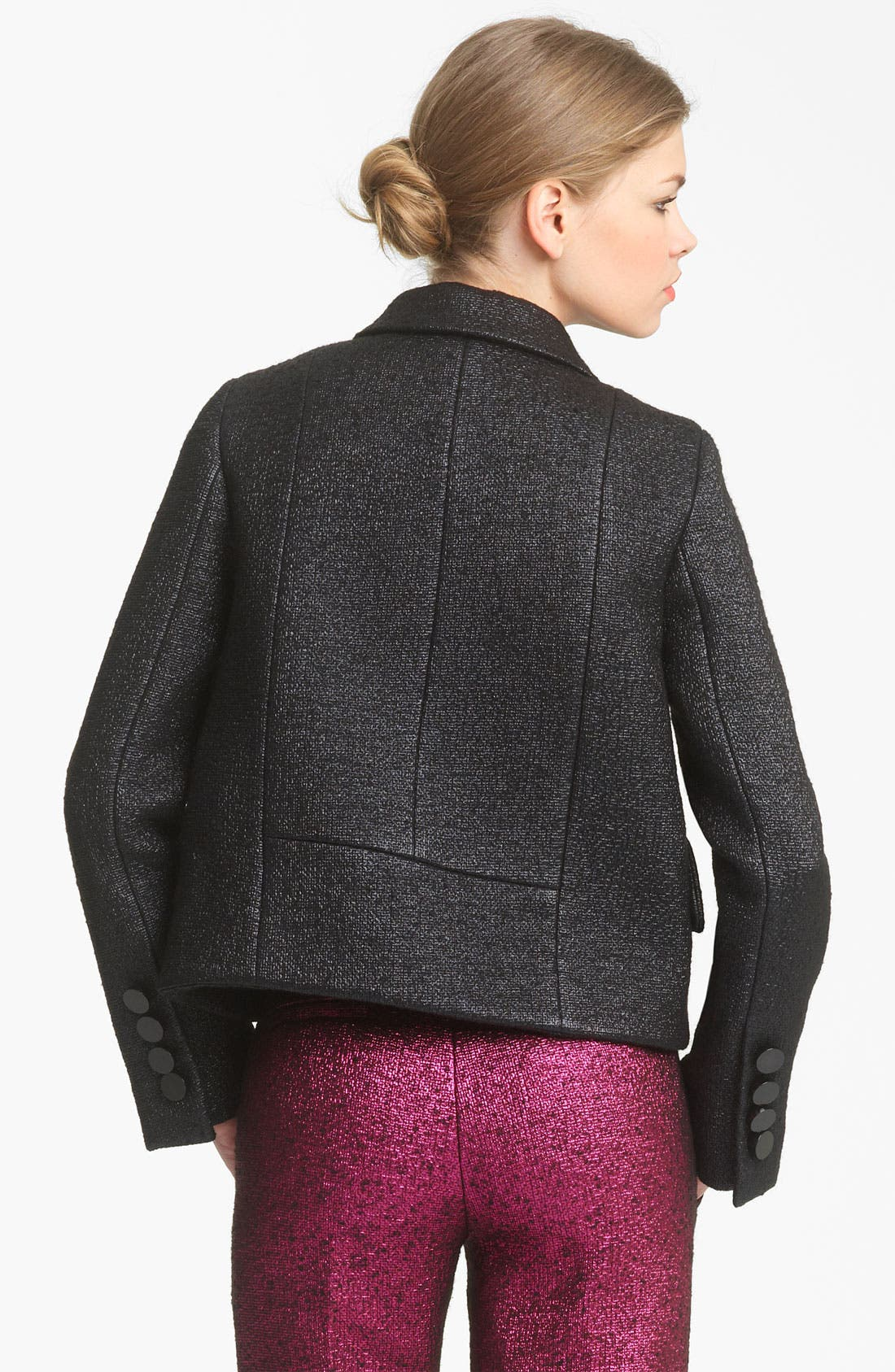Alternate Image 3  - MARC JACOBS Bouclé Lamé Crop Jacket