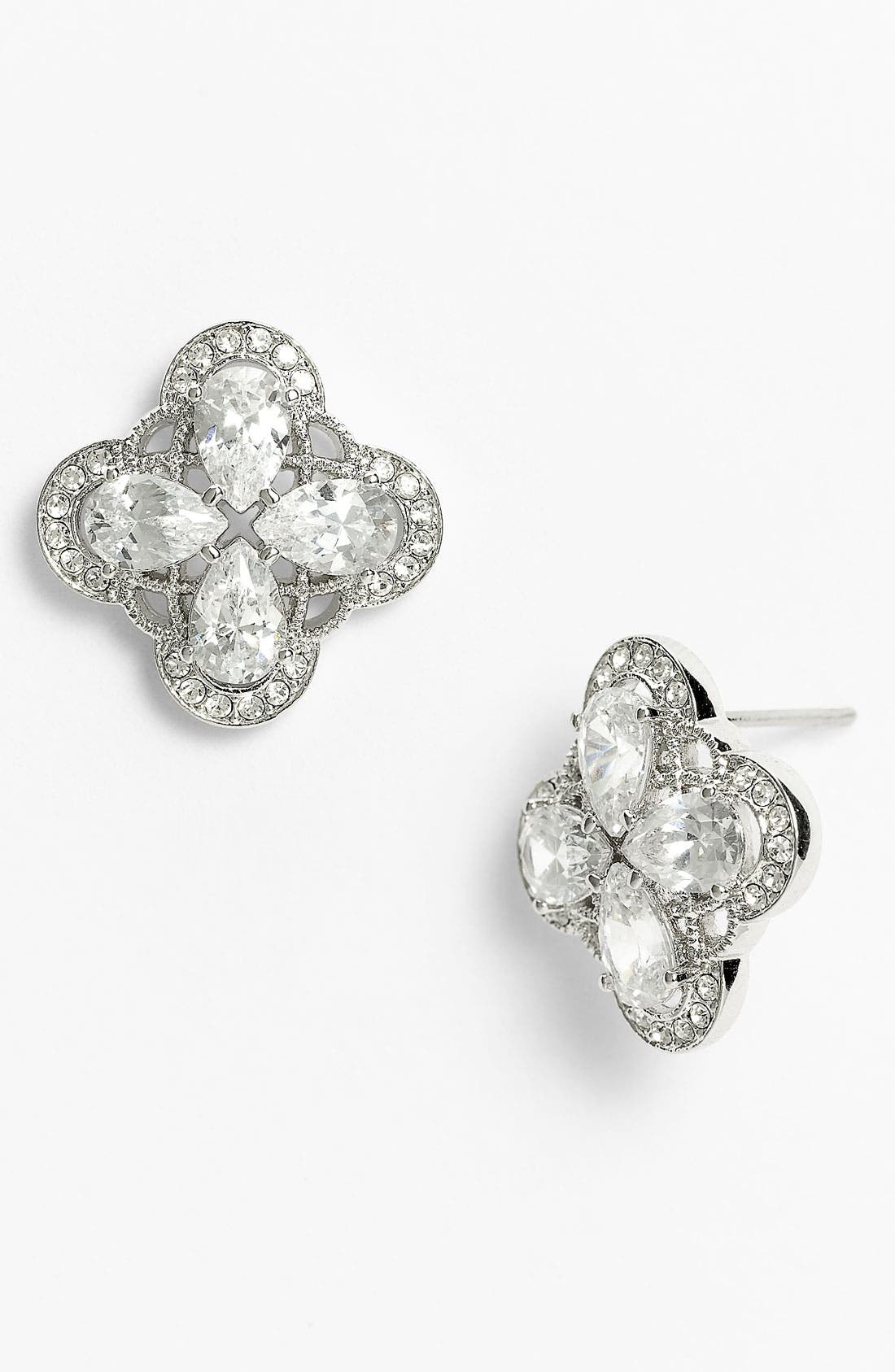 Main Image - Nadri 'Ariel' Button Stud Earrings (Nordstrom Exclusive)