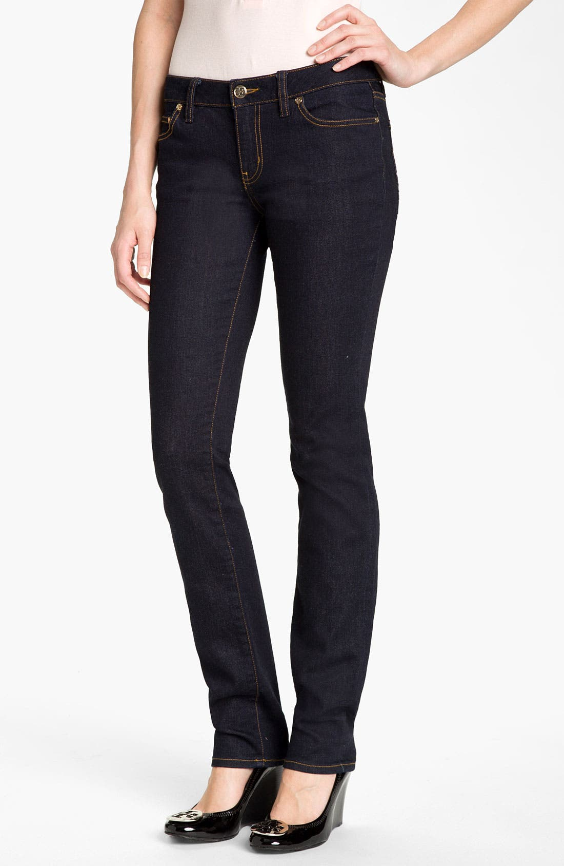 Alternate Image 1 Selected - Tory Burch Super Skinny Stretch Jeans