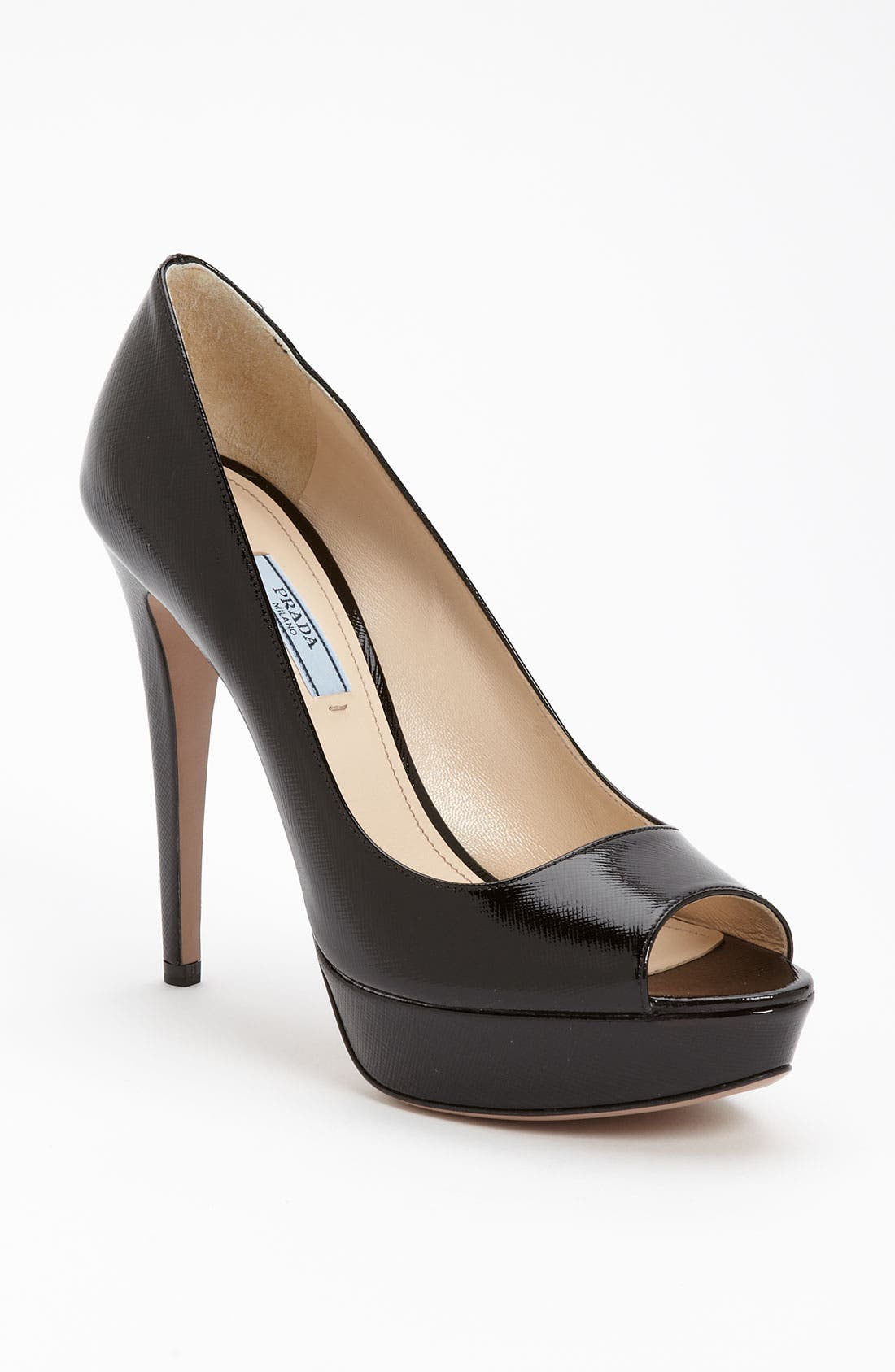 Alternate Image 1 Selected - Prada Open Toe Platform Pump