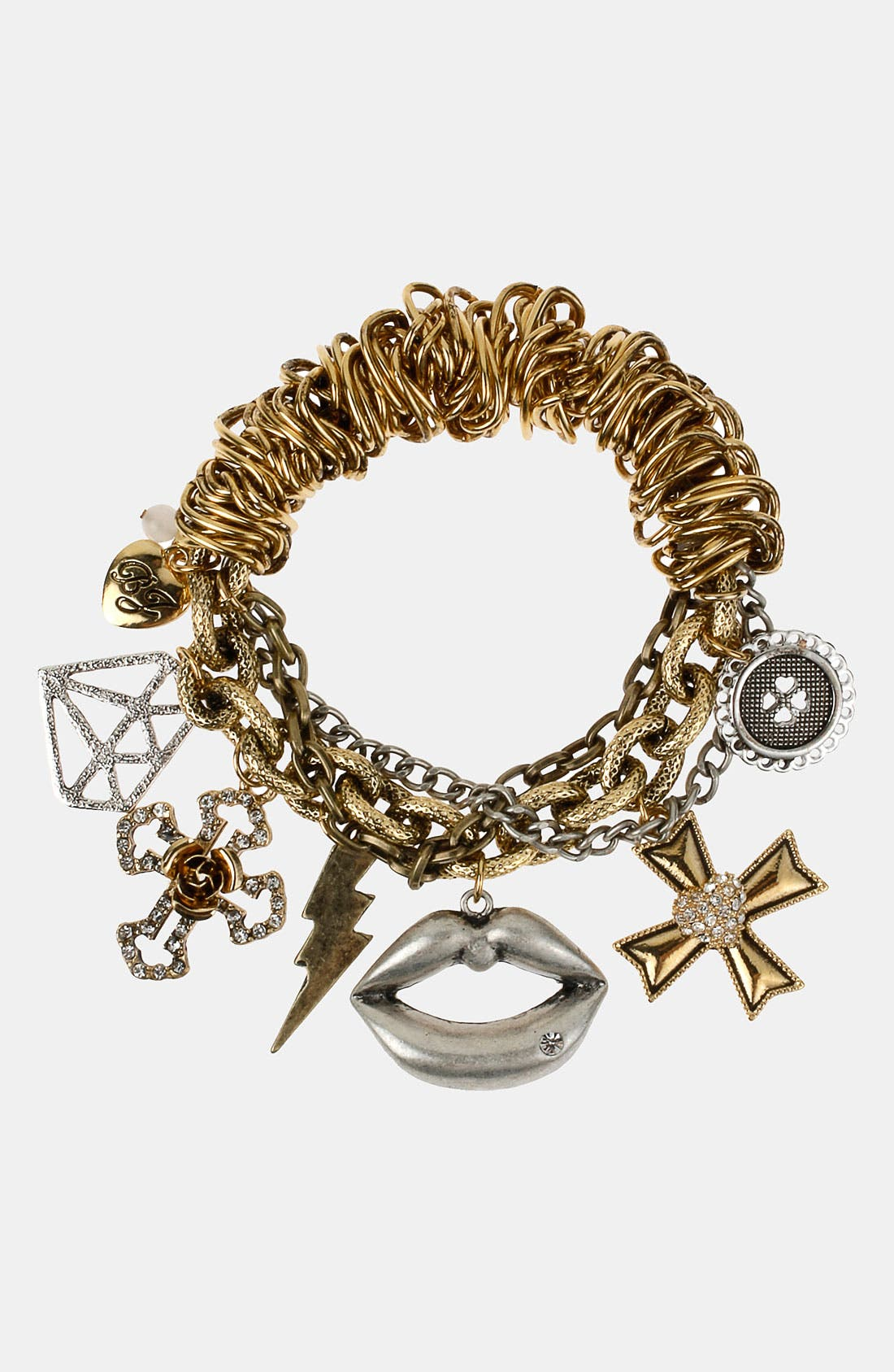Main Image - Betsey Johnson 'Black Label' Stretch Charm Bracelet