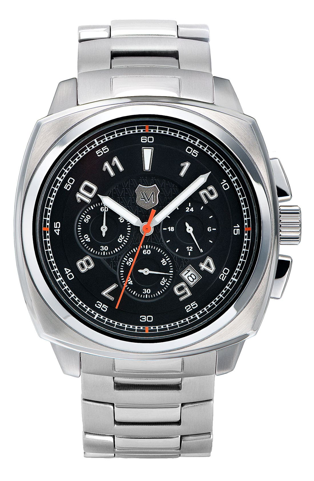 Main Image - Andrew Marc Watches 'Heritage Bomber' Bracelet Watch, 47mm