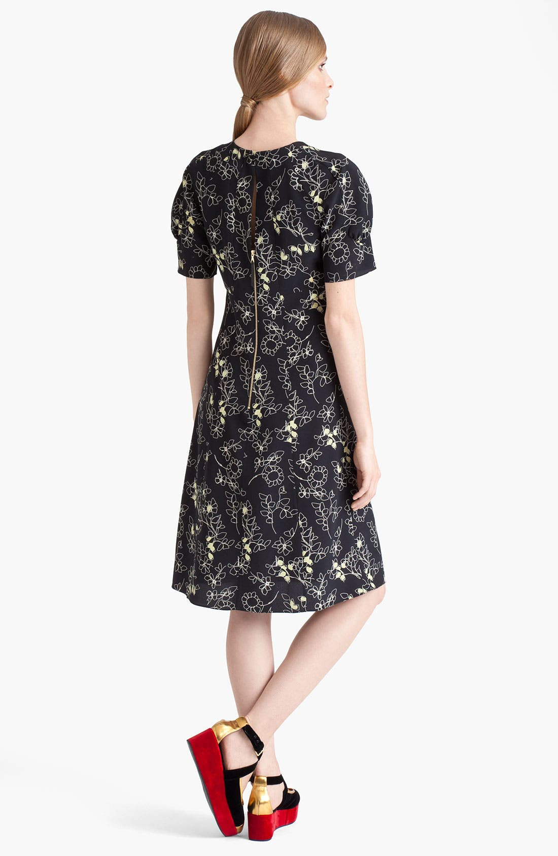 Alternate Image 2  - Marni Floral Print Silk Dress