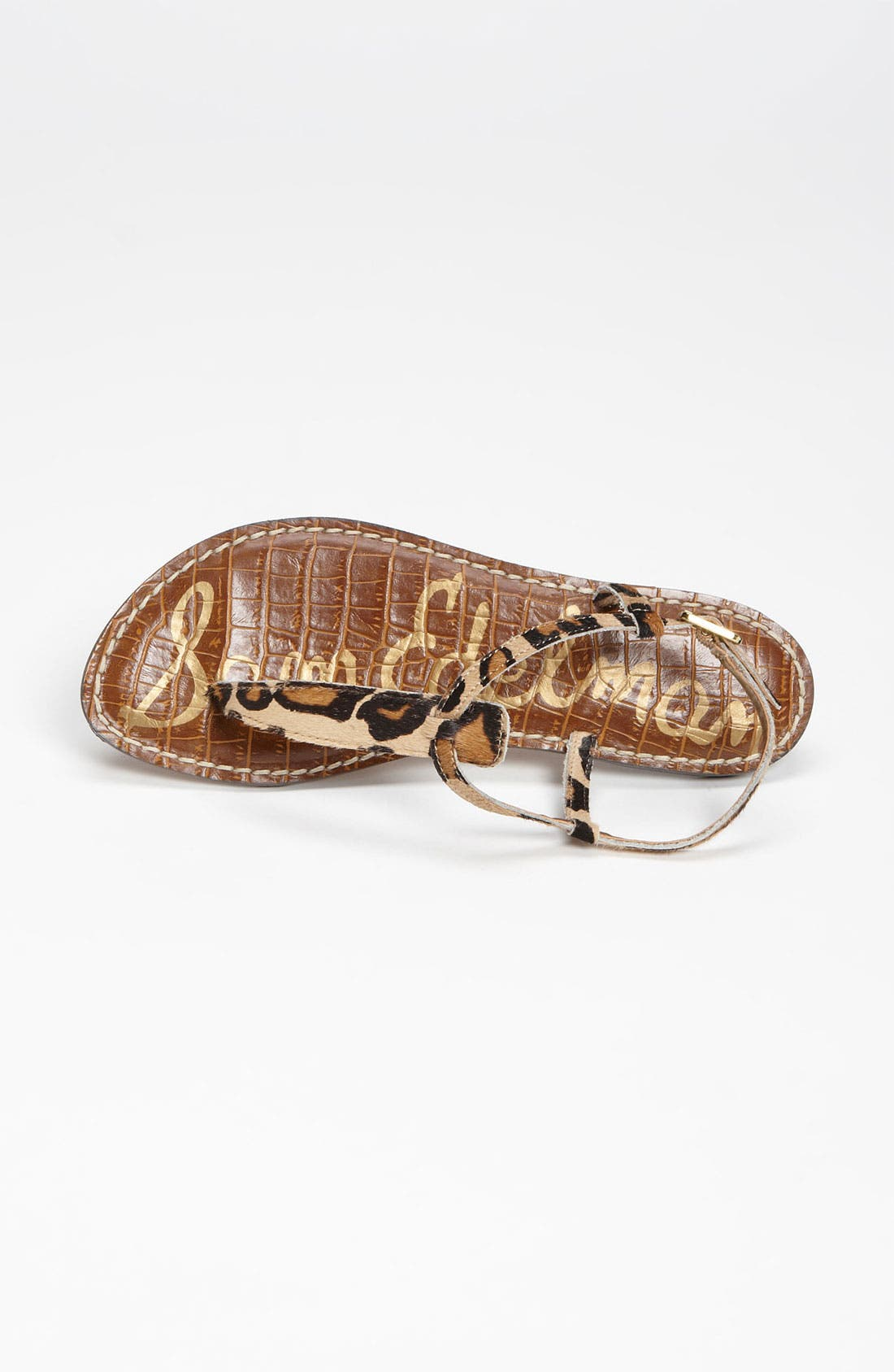 Gigi Genuine Calf Hair Sandal,                             Alternate thumbnail 3, color,                             New Nude Leopard