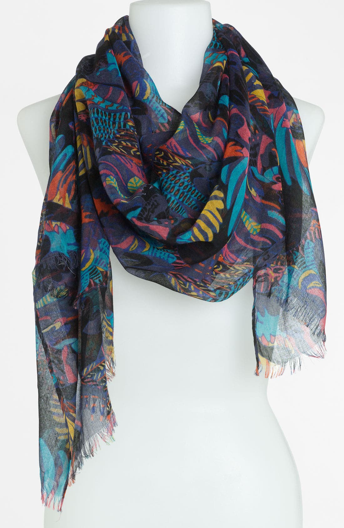 Alternate Image 1 Selected - Raj Imports 'Feather & Birds' Scarf
