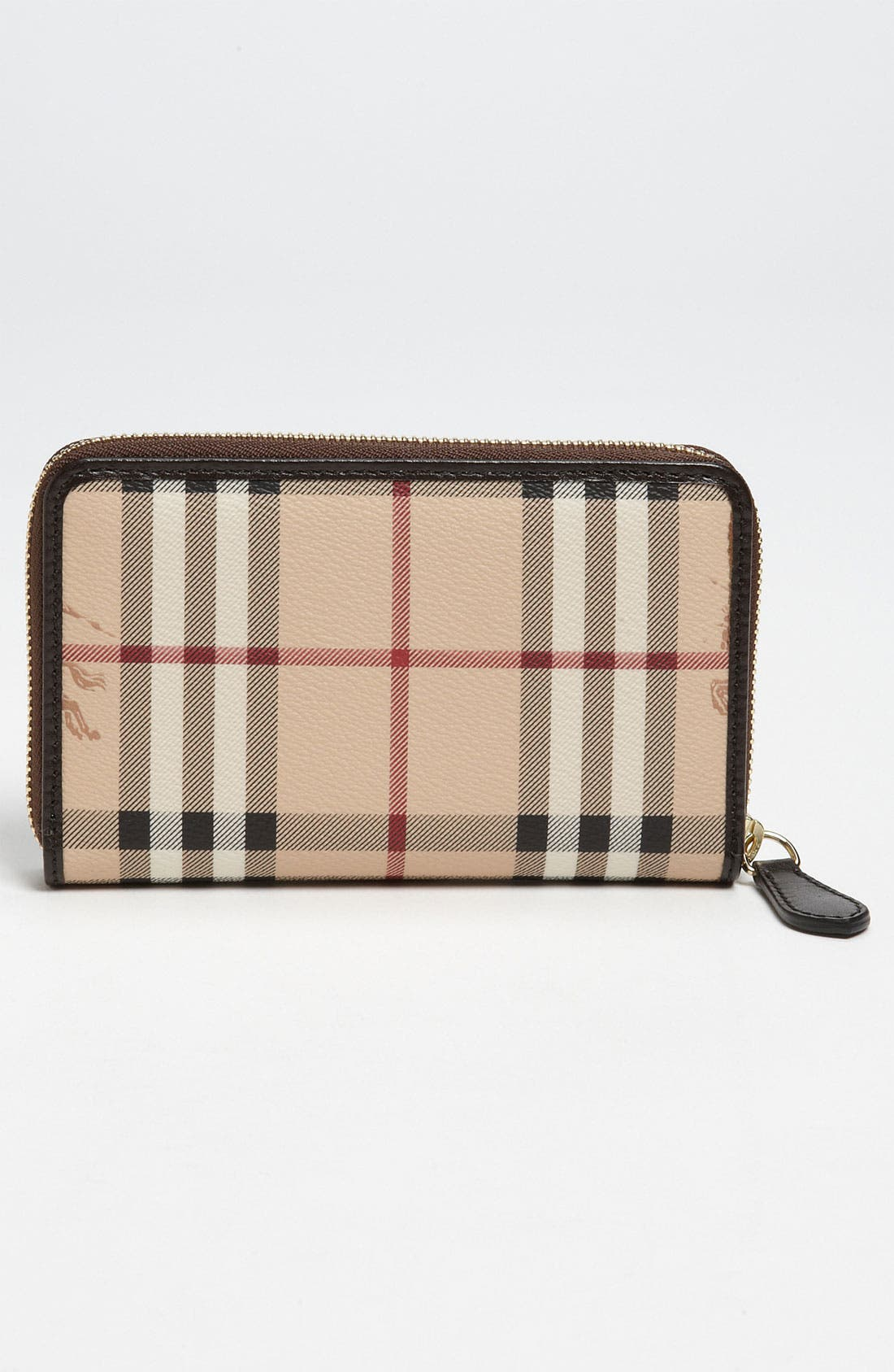 Alternate Image 4  - Burberry 'Haymarket Check' Compact Zip Around Wallet