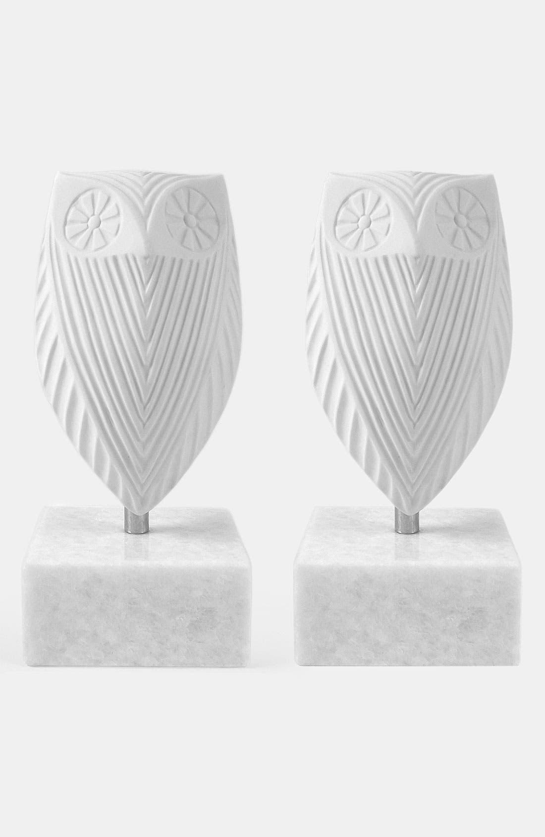 Alternate Image 1 Selected - Jonathan Adler 'Owl' Porcelain Bookends