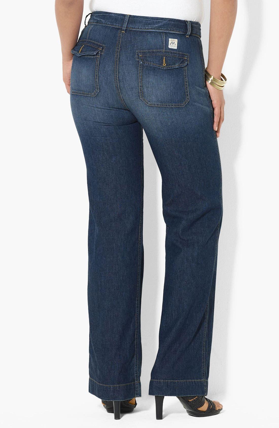 Alternate Image 1 Selected - Lauren Ralph Lauren Drawstring Waist Jeans (Plus)