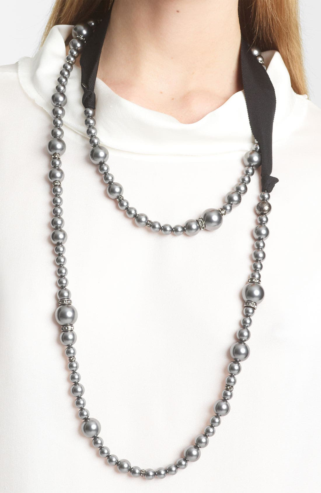 Alternate Image 2  - Lanvin Double Strand Glass Pearl Necklace
