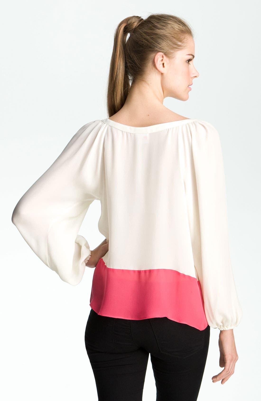 Alternate Image 2  - Parker Colorblock Silk Blouse