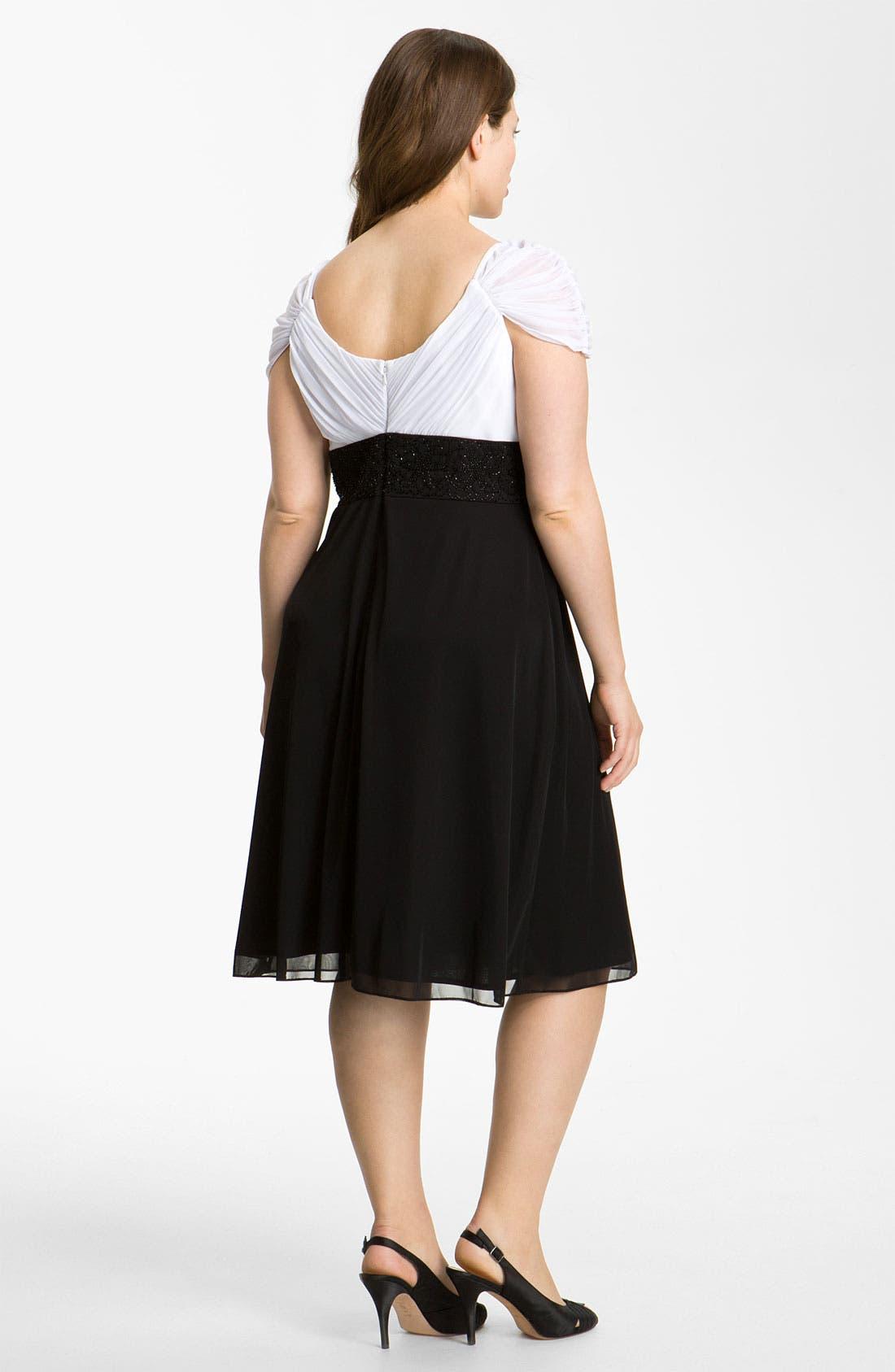 Alternate Image 2  - Alex Evenings Beaded Surplice Dress (Plus)