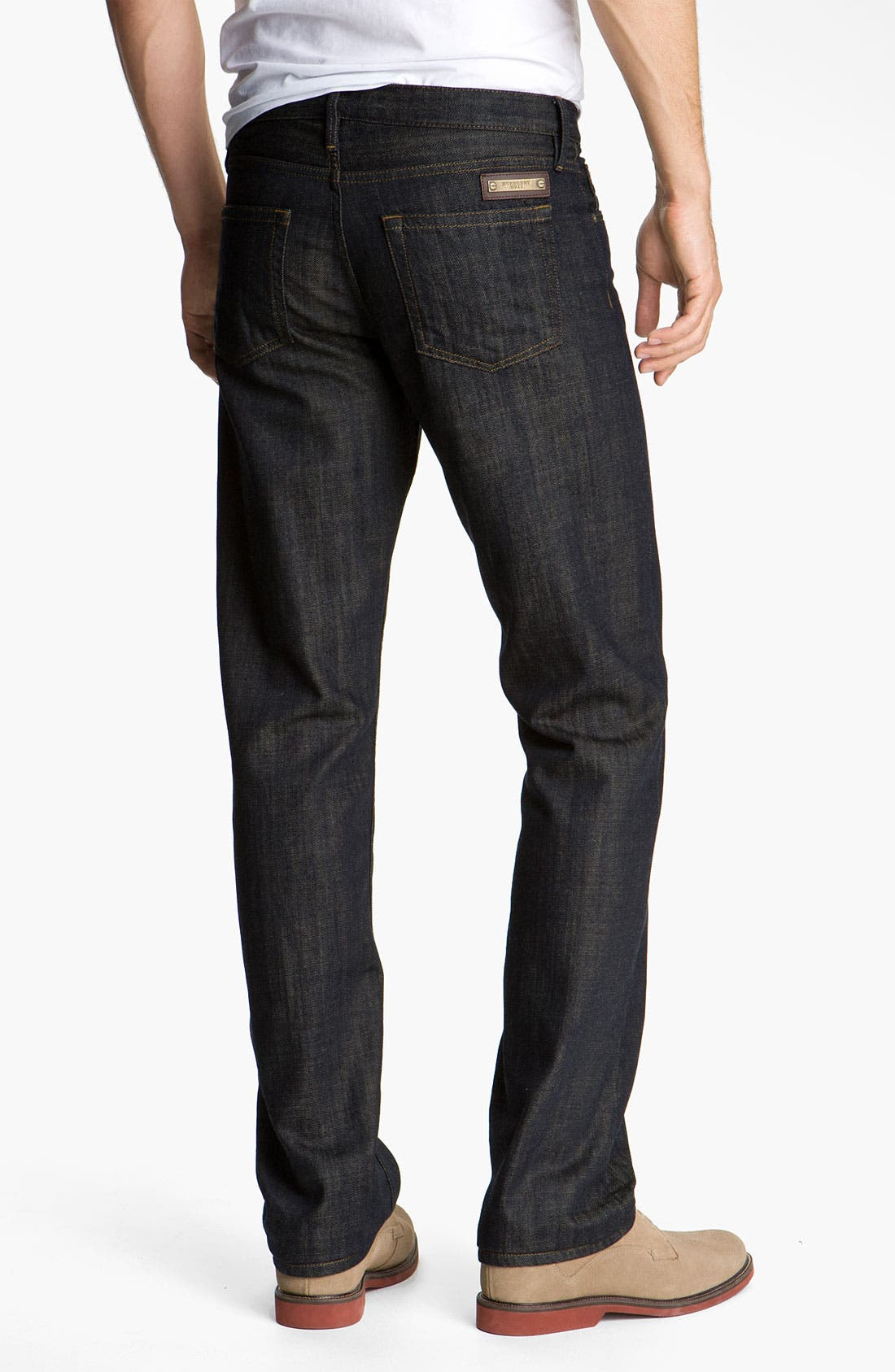 Alternate Image 2  - Burberry Brit 'Cavendish' Resin Washed Denim Jeans (Indigo Blue)