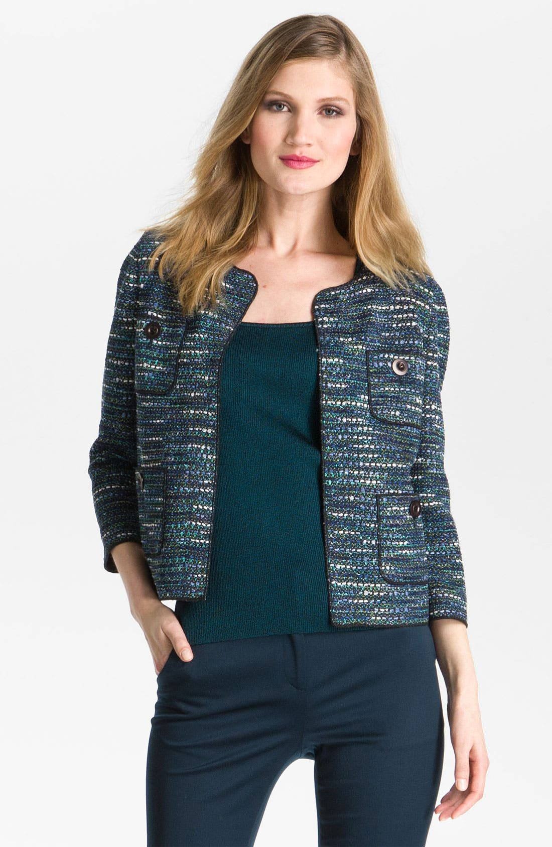 Alternate Image 2  - St John Collection Tweed Jacket, Shell & Pants