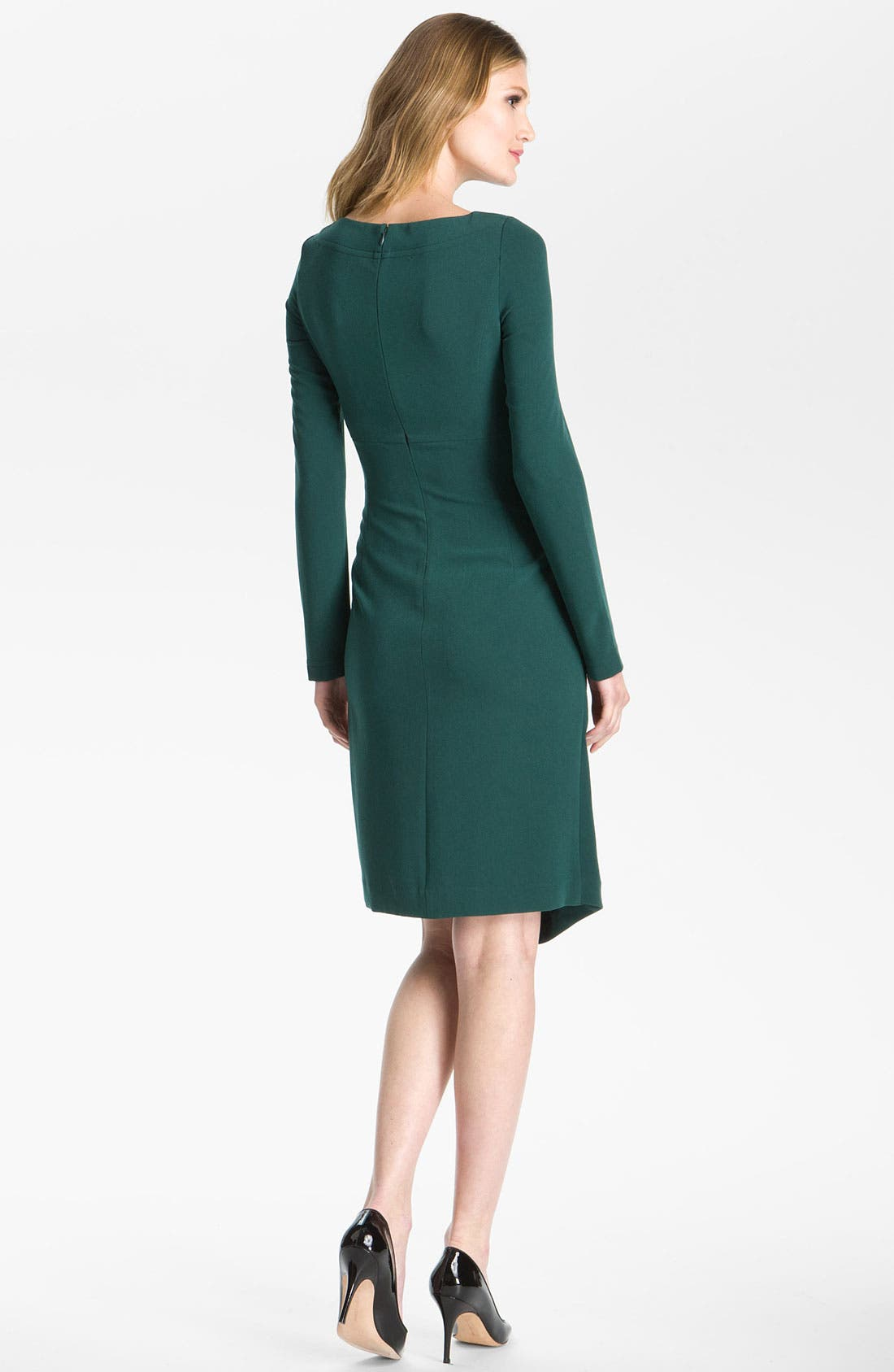 Alternate Image 2  - St. John Collection 'Luxe Crepe' Faux Wrap Dress