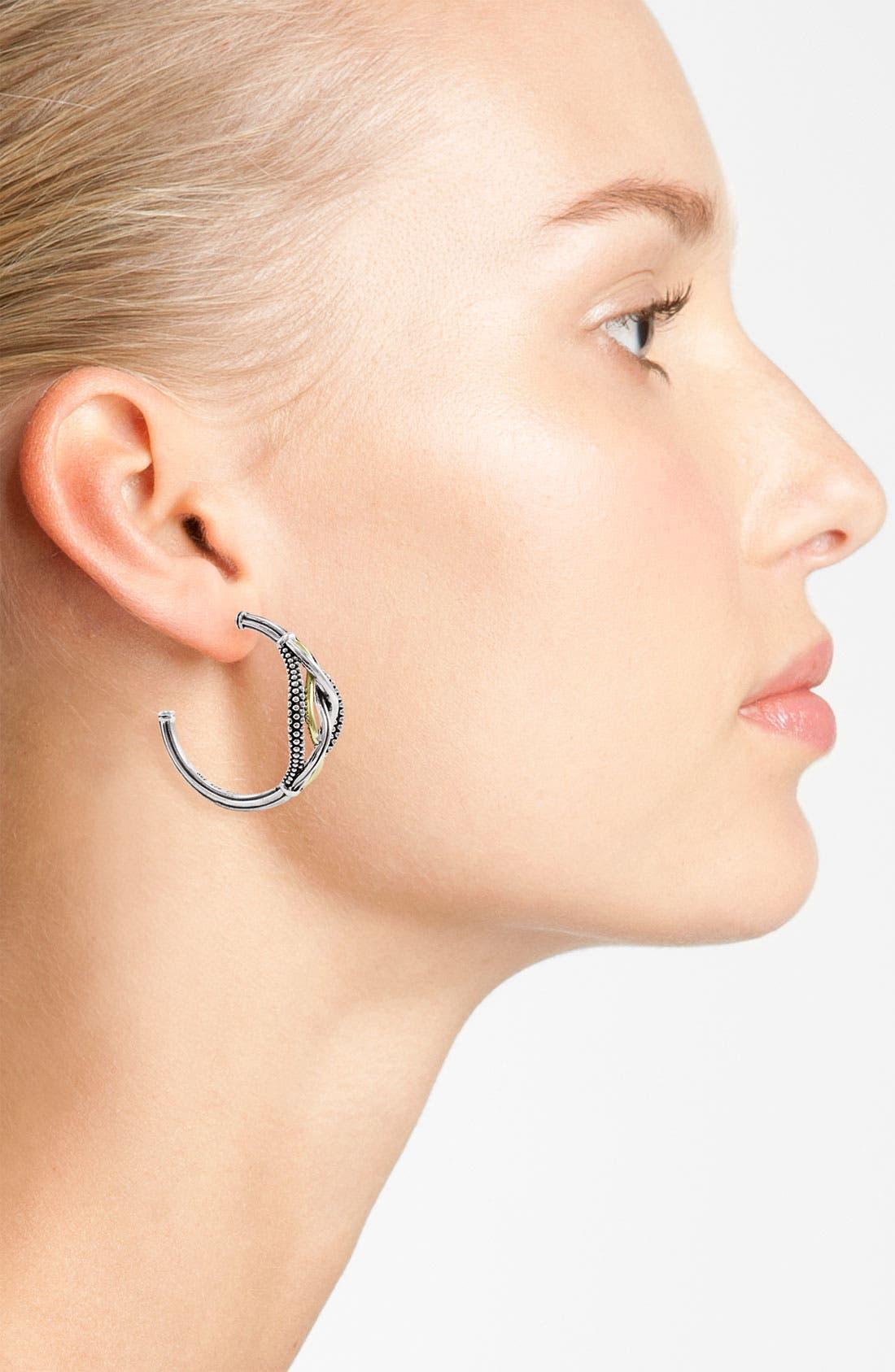 Alternate Image 2  - LAGOS 'Unlaced' Hoop Earrings