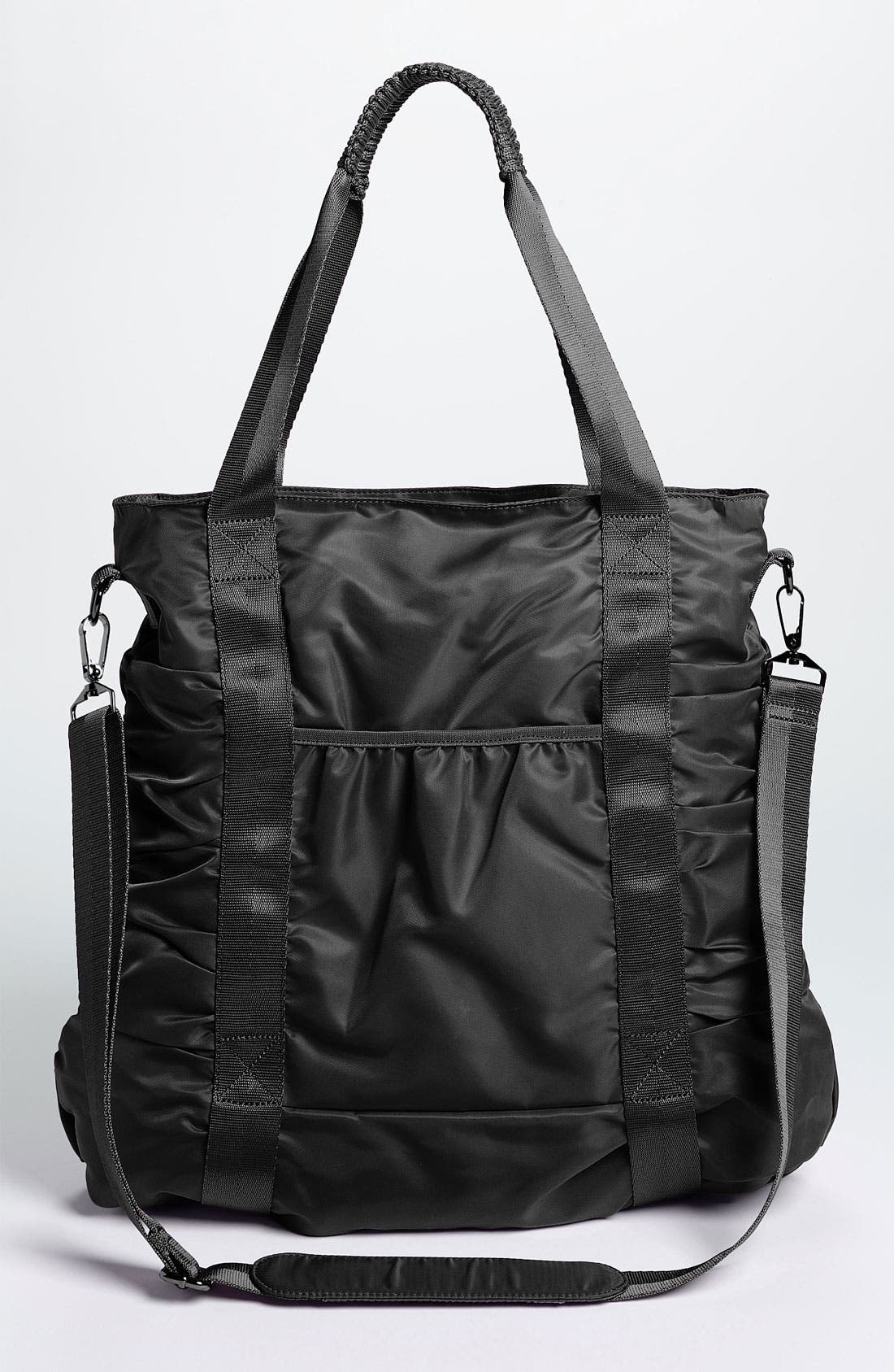Gathered Tote,                             Alternate thumbnail 4, color,                             Woven Black