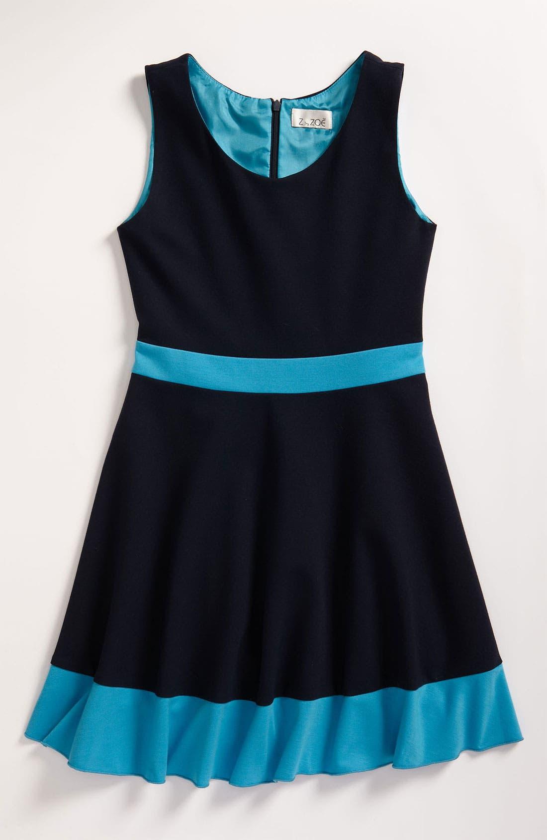 Alternate Image 1 Selected - Zoe Ltd Colorblock Tank Dress (Big Girls)