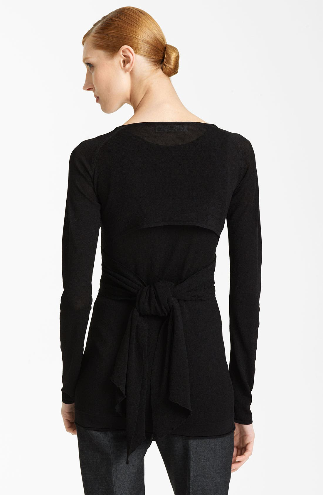 Alternate Image 2  - Donna Karan Collection Tie Shrug