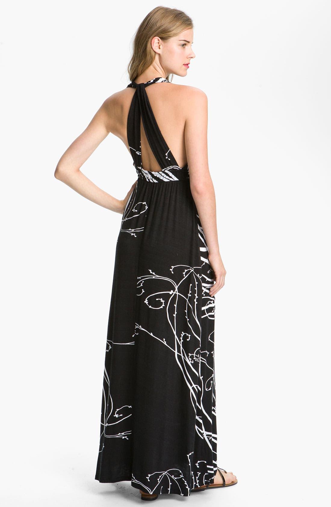 Alternate Image 2  - Max & Mia Empire Waist Maxi Dress