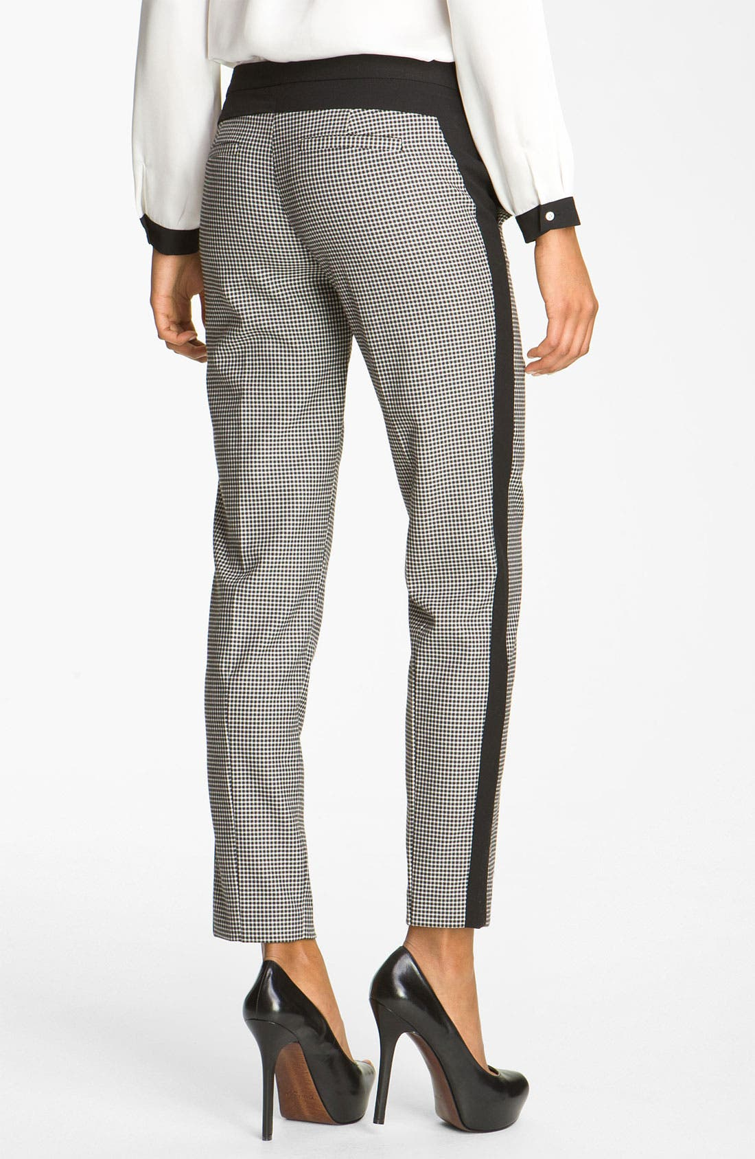 Alternate Image 2  - Vince Camuto Colorblock Houndstooth Ankle Pants