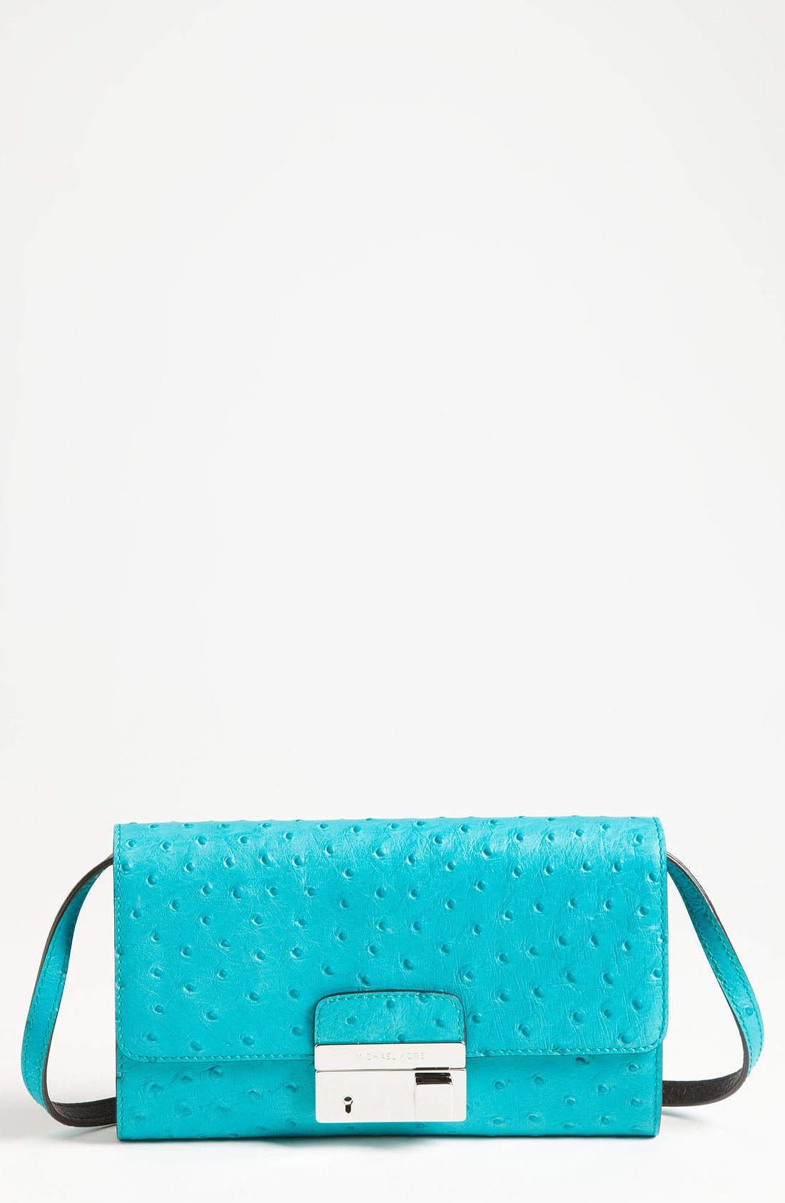 Main Image - Michael Kors 'Gia' Ostrich Embossed Leather Clutch