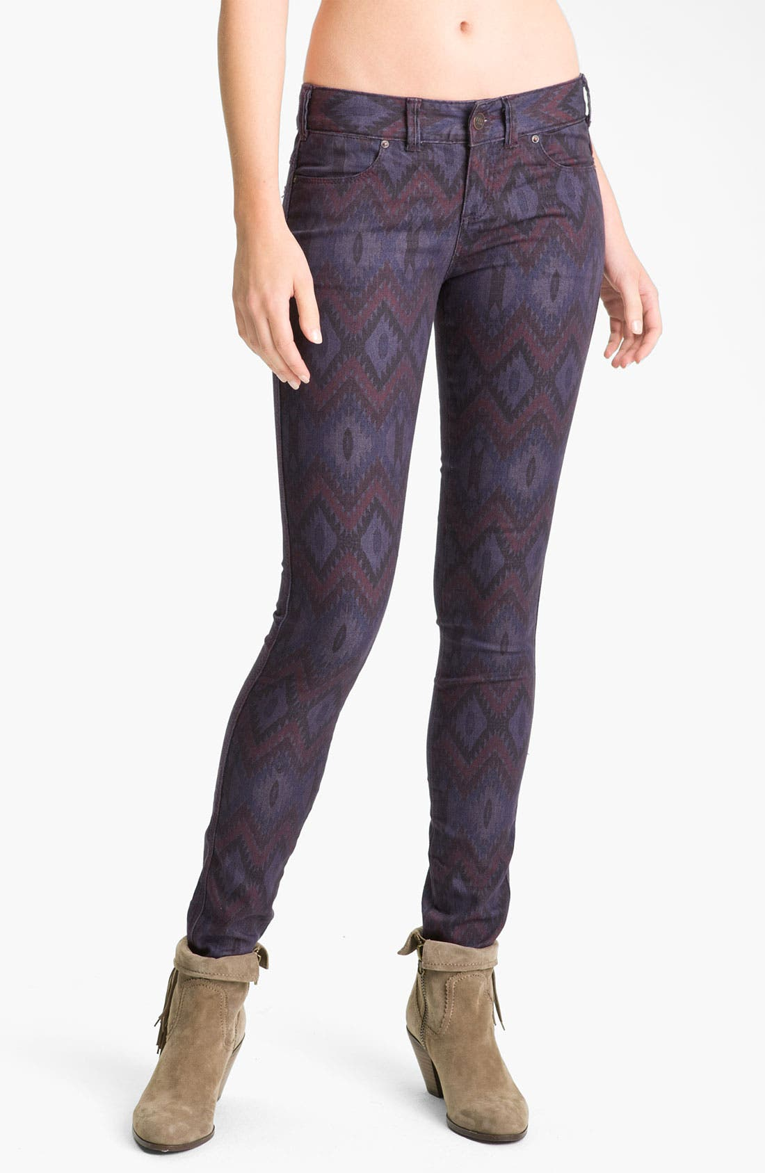 Alternate Image 1 Selected - Free People Ikat Print Skinny Jeans