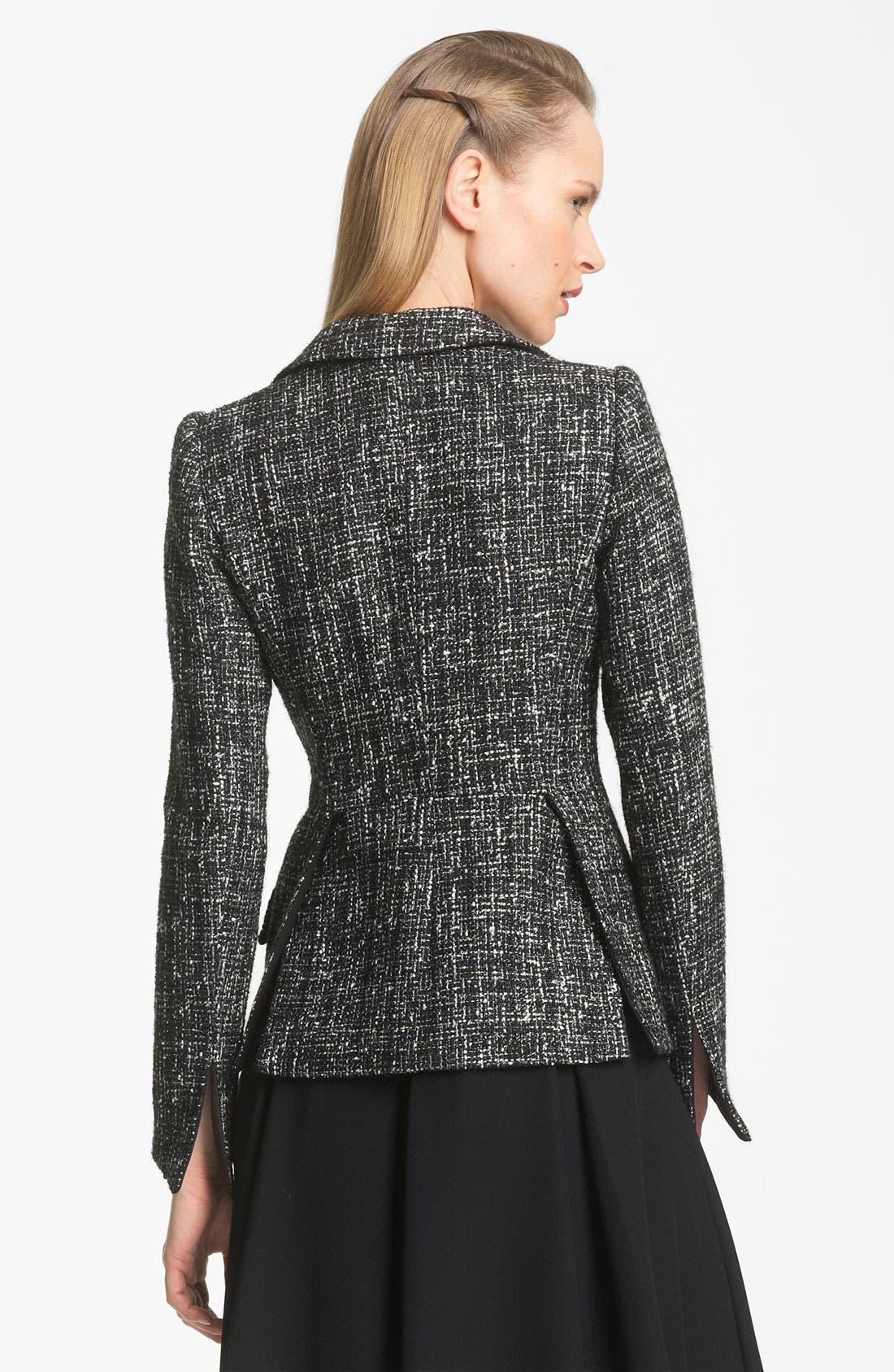 Alternate Image 2  - Armani Collezioni Tweed Jacket