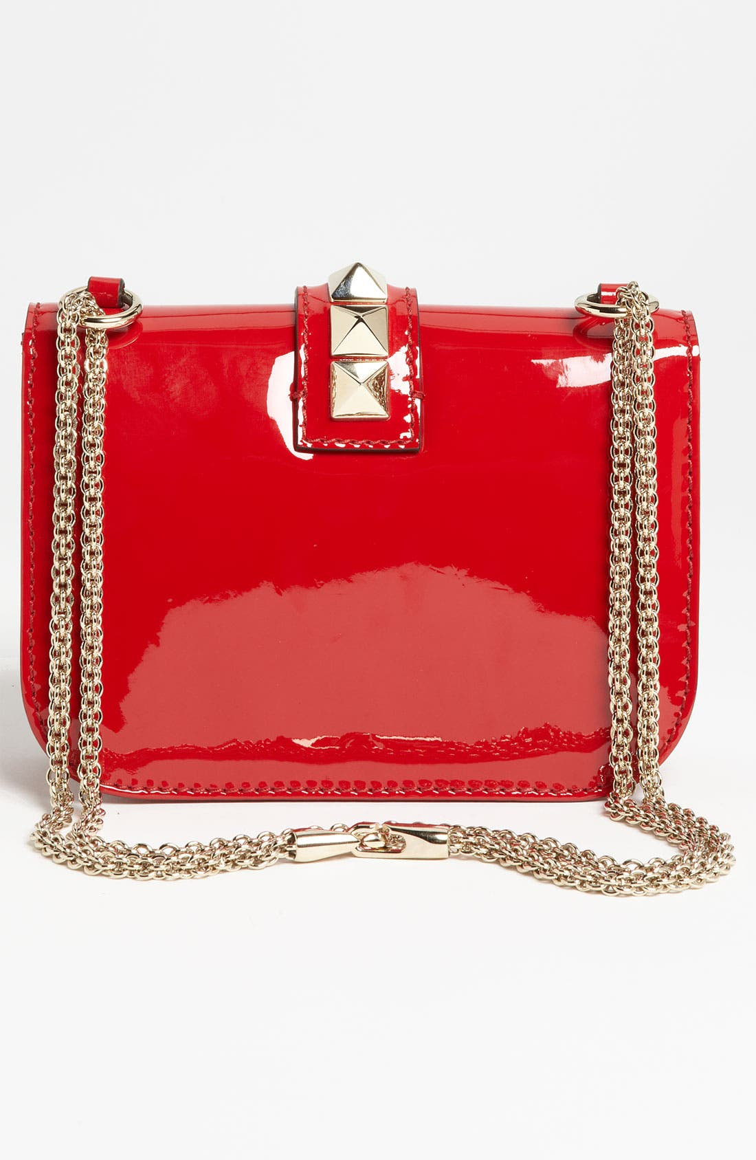 Alternate Image 4  - Valentino 'Rockstud - Small Lock' Leather Shoulder Bag