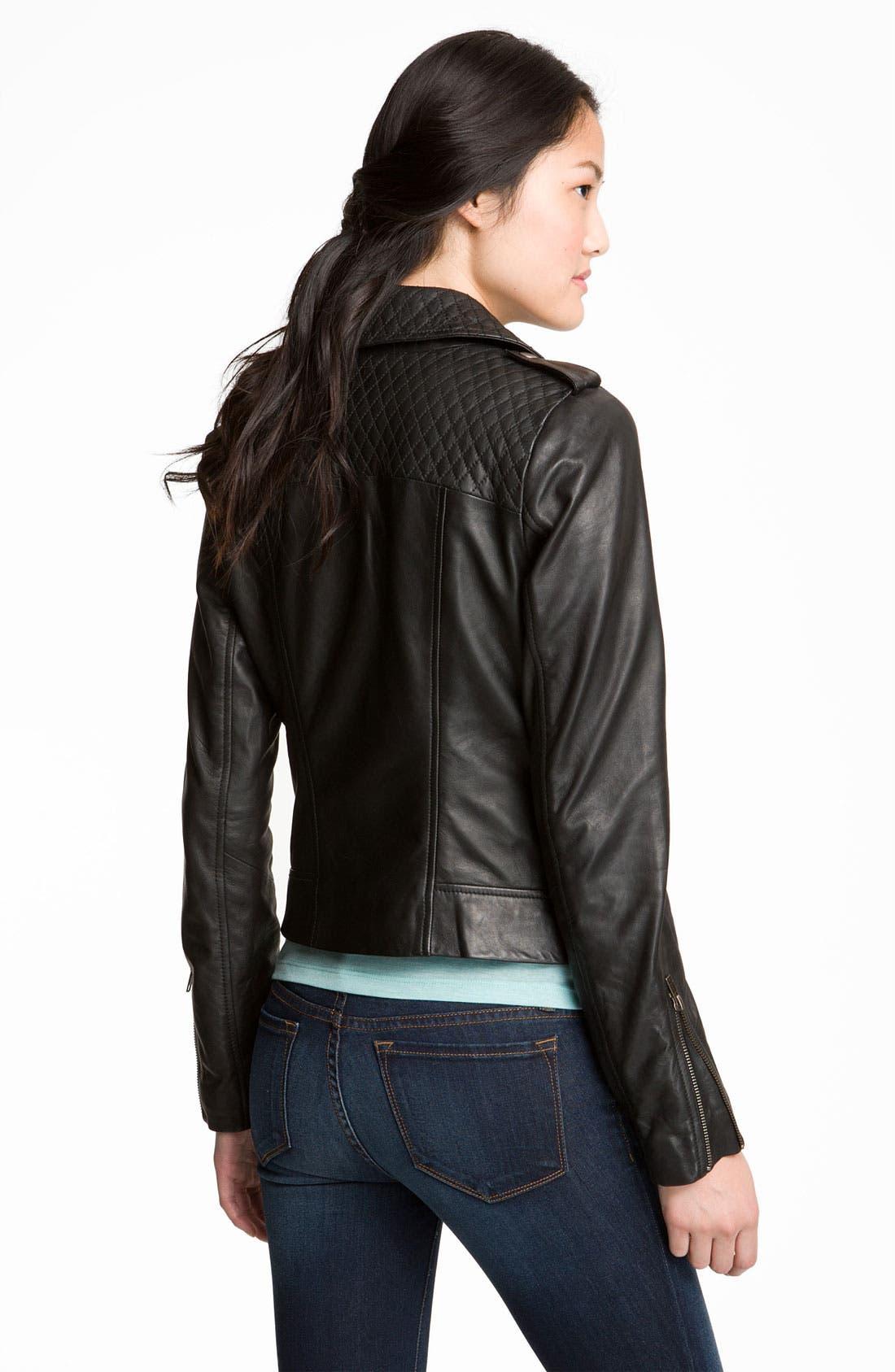 Alternate Image 3  - Trouvé Quilted Leather Biker Jacket