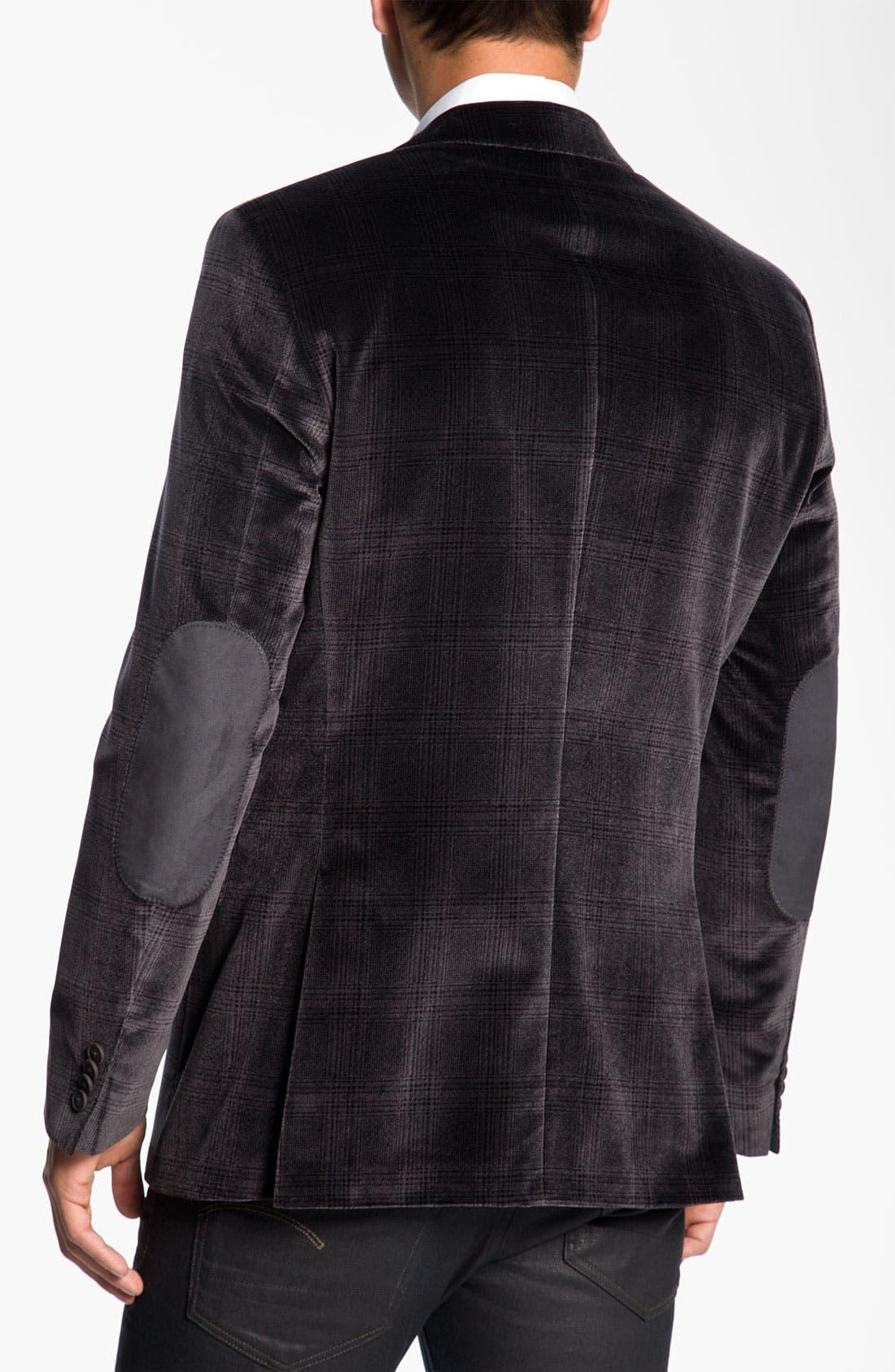 Alternate Image 2  - BOSS Black 'Smith' Velvet Plaid Sportcoat