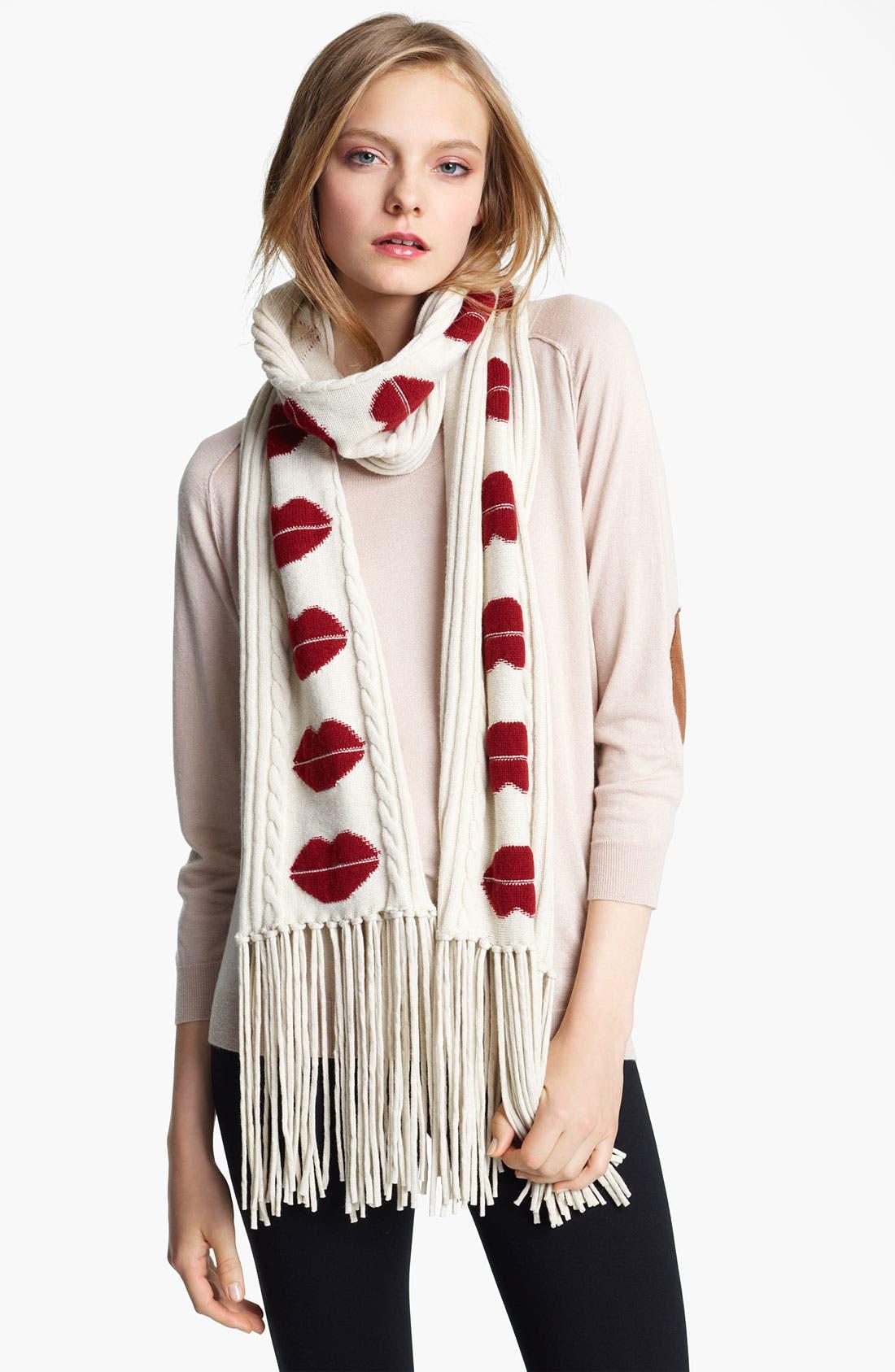 Main Image - Sonia Rykiel 'Lips' Wool & Cashmere Scarf