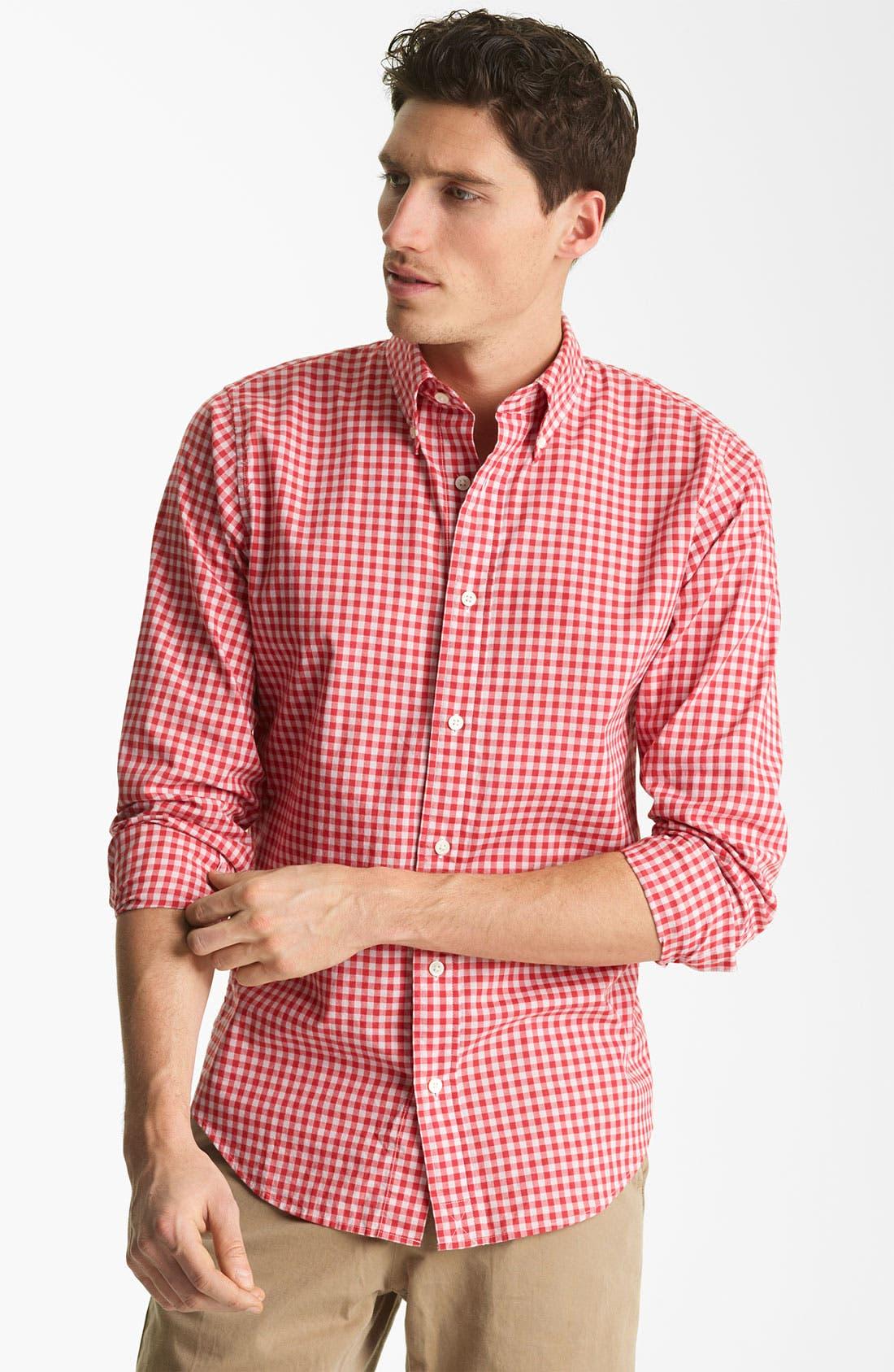 Alternate Image 1 Selected - Jack Spade 'Kern' Gingham Sport Shirt